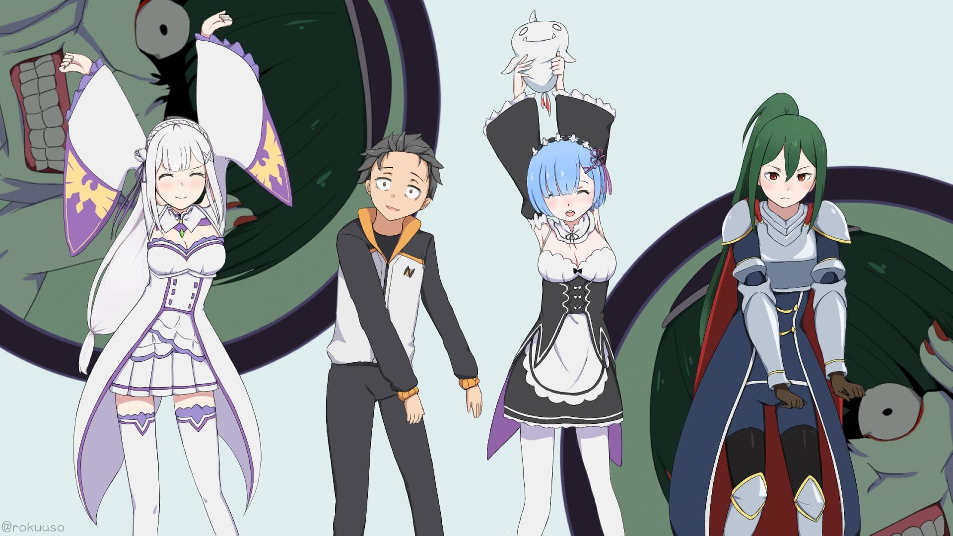 Anime Characters Wall Paper Rezero Kara Hajimeru Isekai .jpg laptop wallpaper