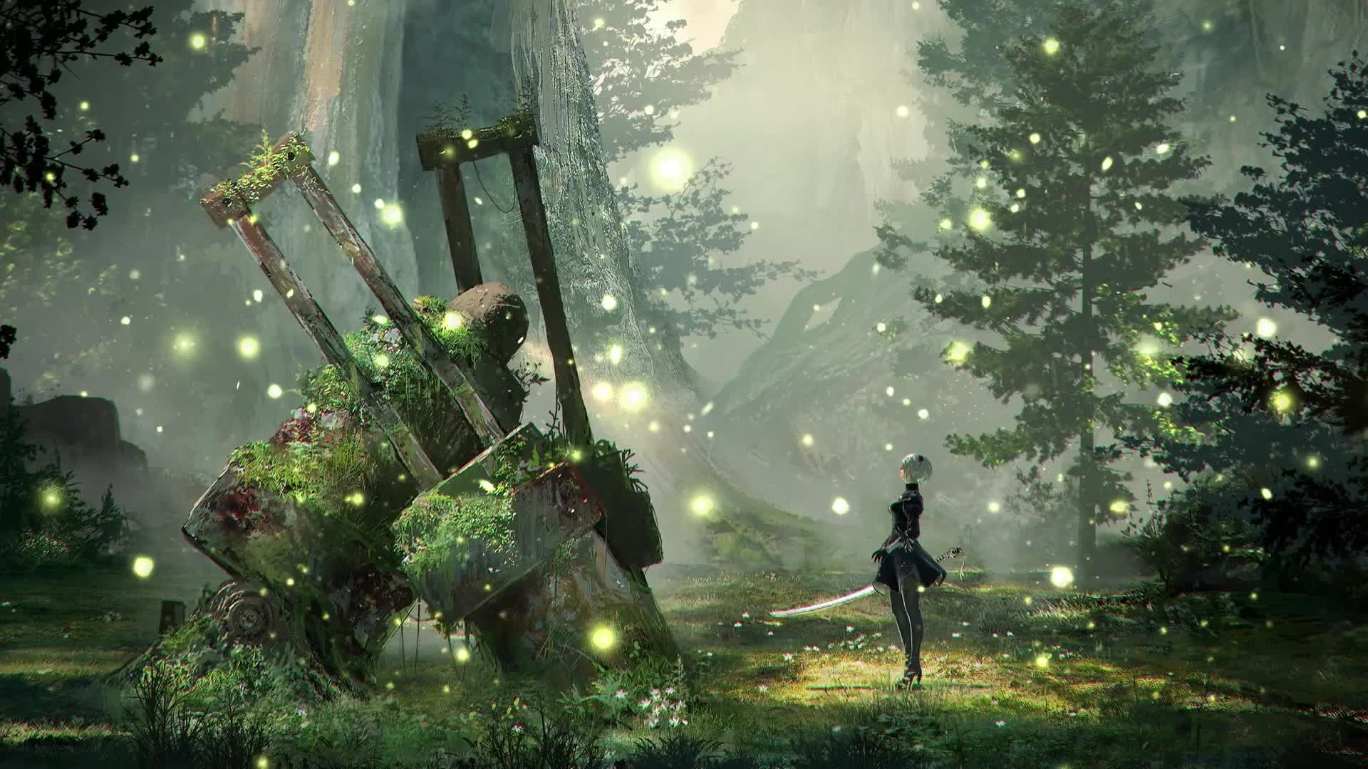 Nier Automata cool background