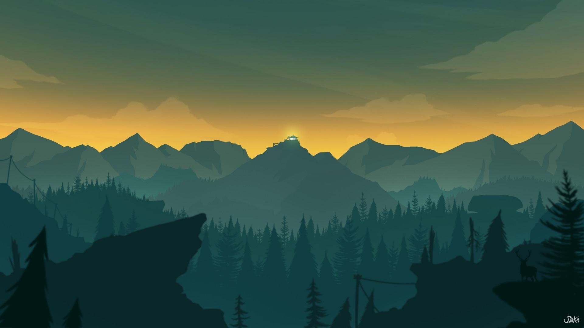 Firewatch desktop wallpaper free download