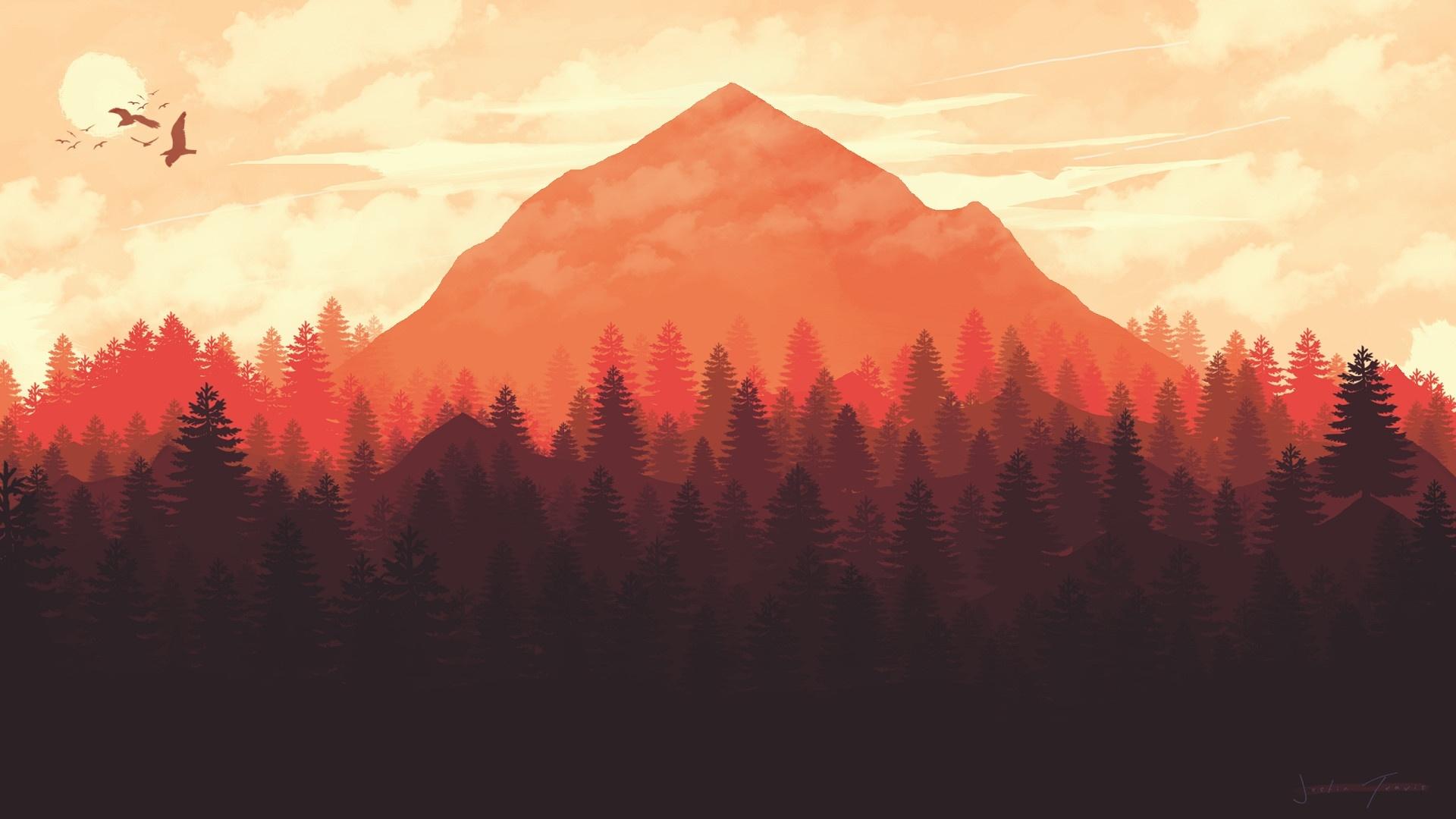 Firewatch cool background