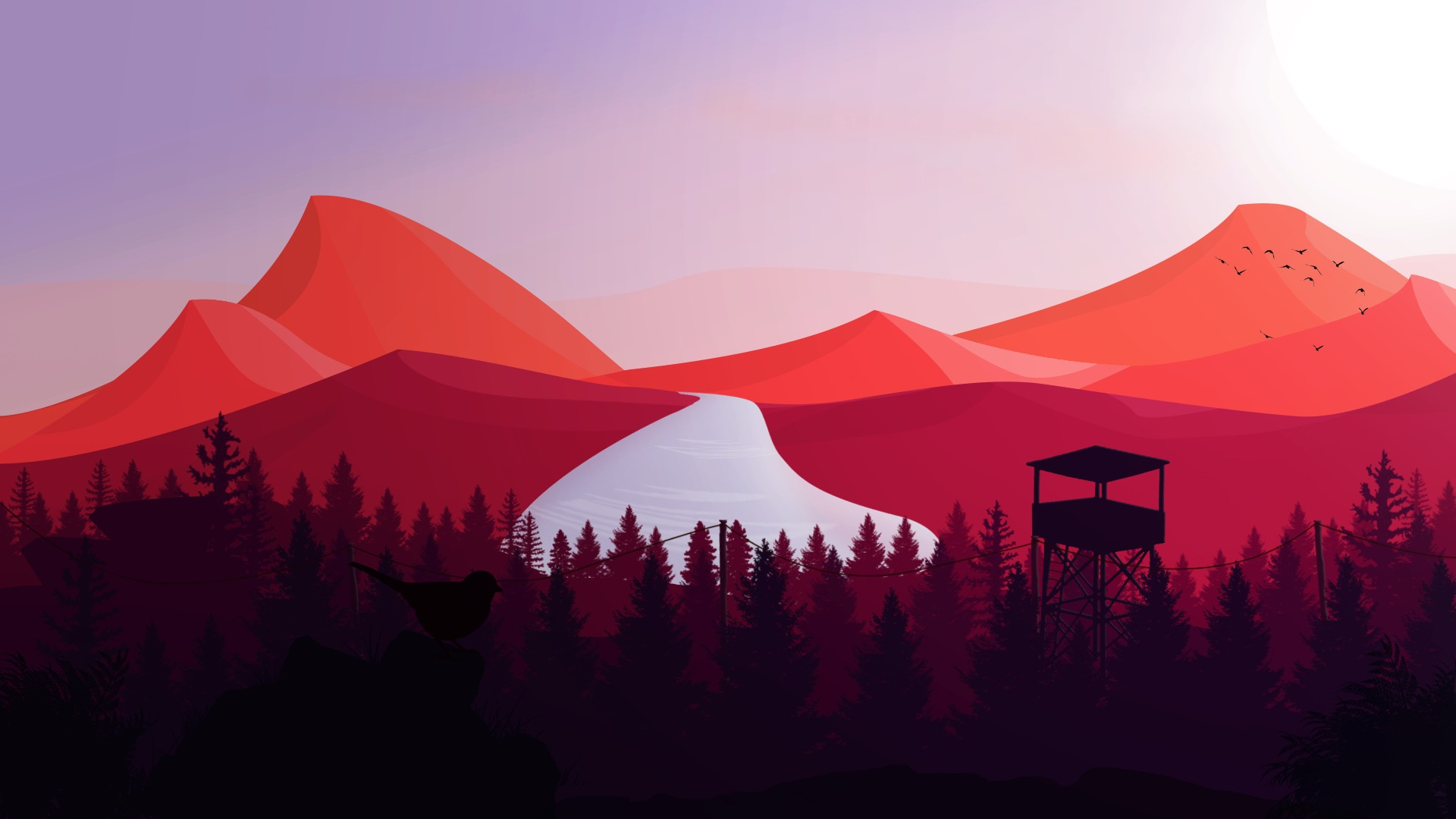 Firewatch windows background