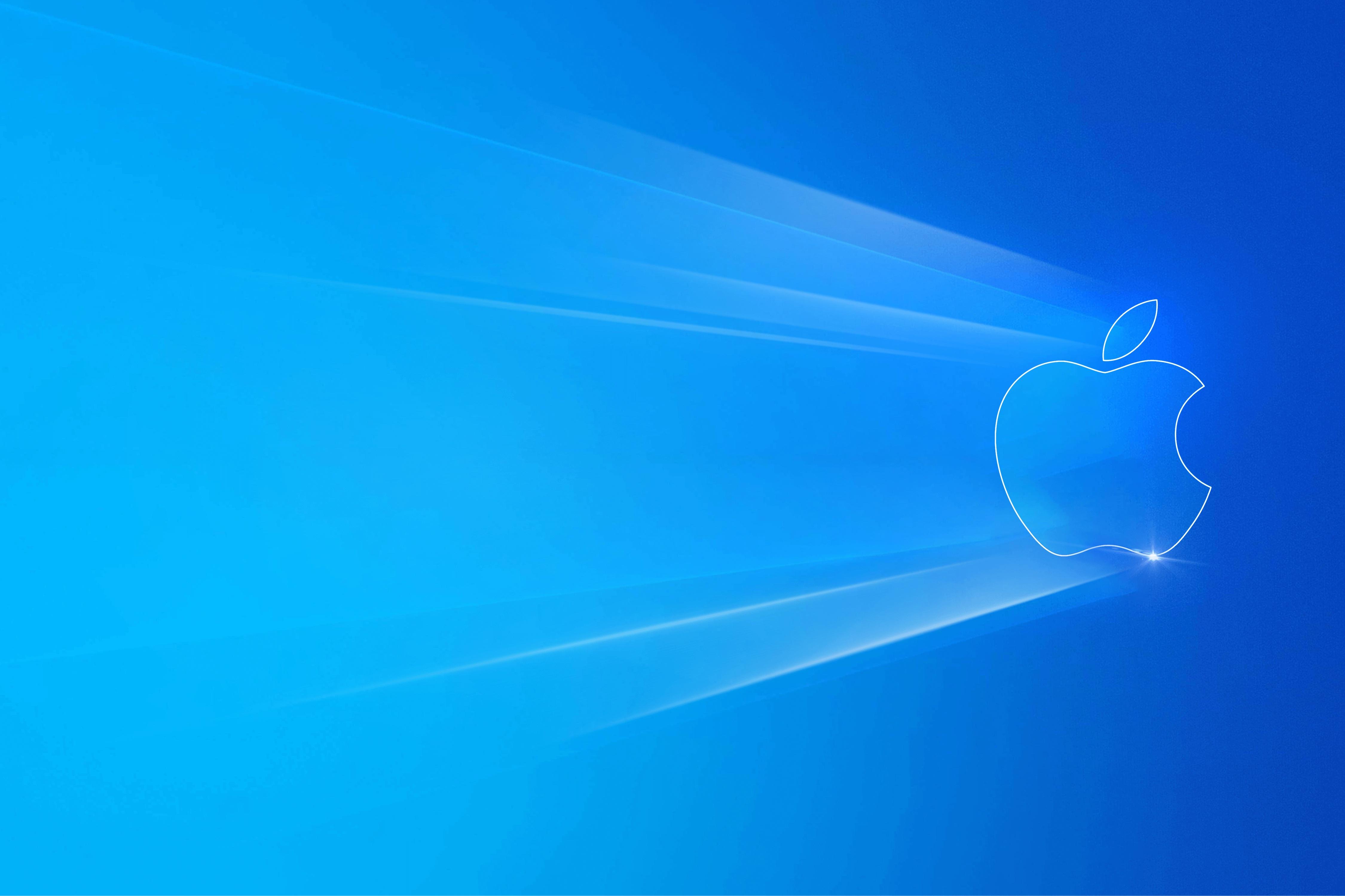 Windows 10 Light Apple cool background