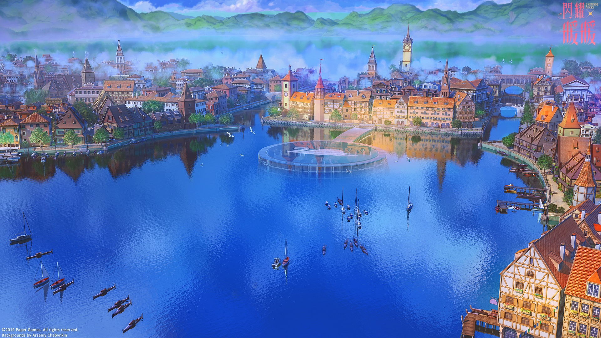 Anime City best background