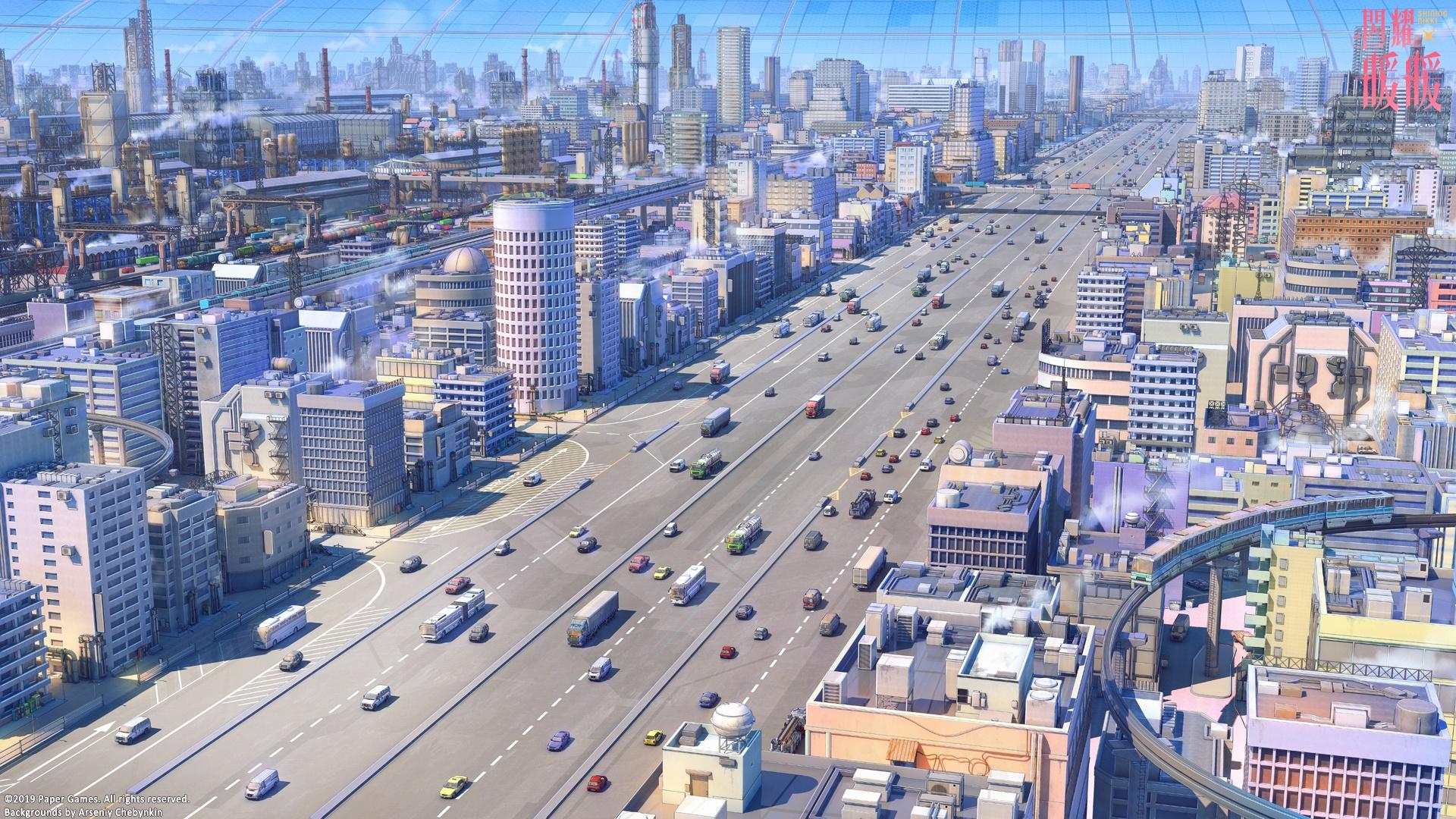 Anime City cool wallpaper