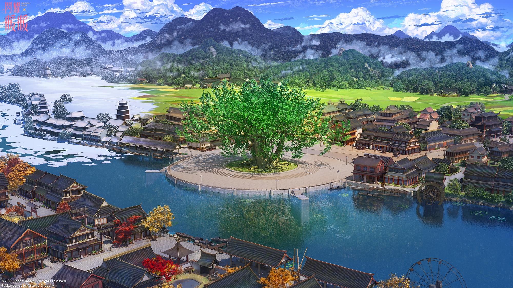 Anime City best wallpaper