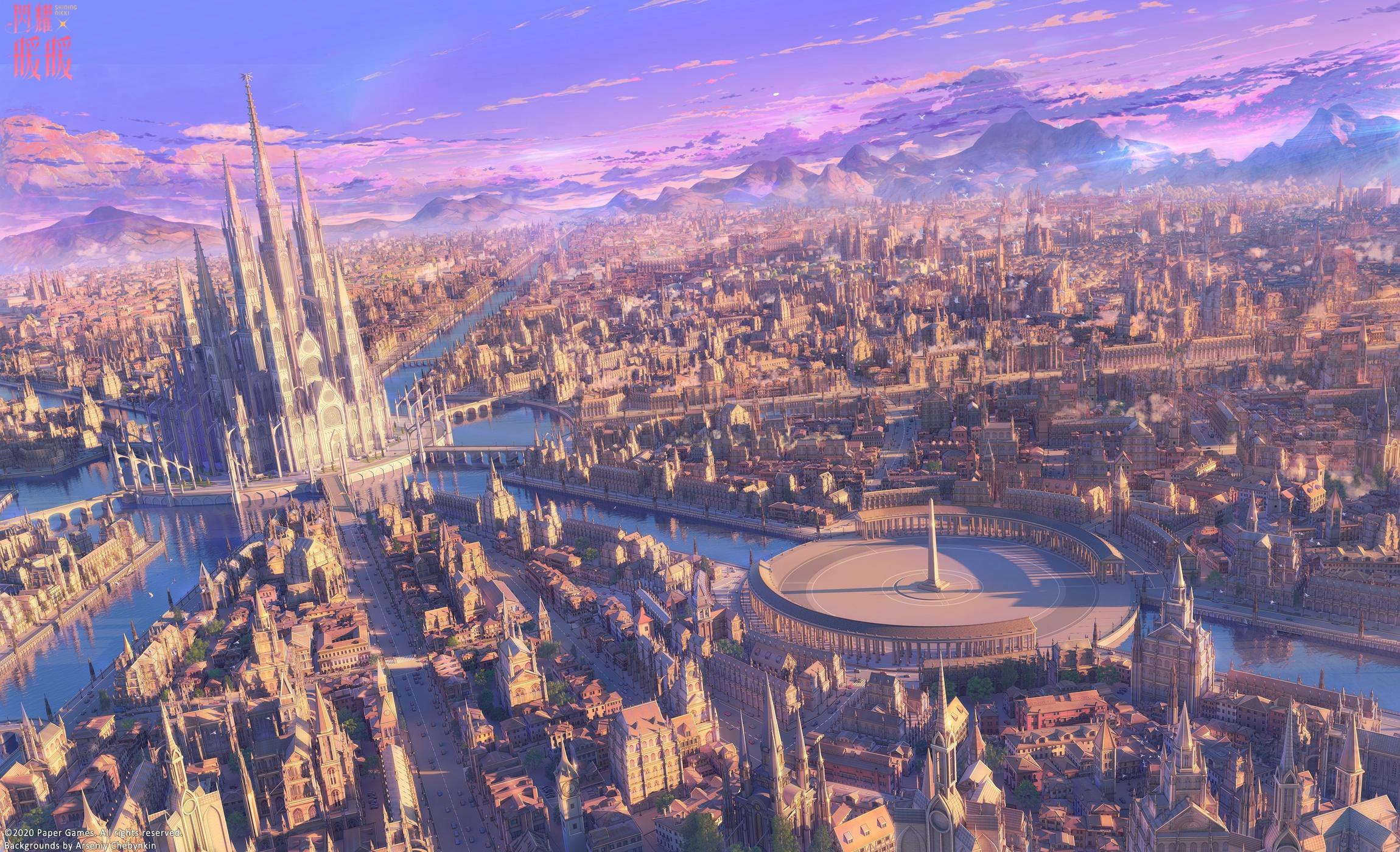 Anime City laptop wallpaper