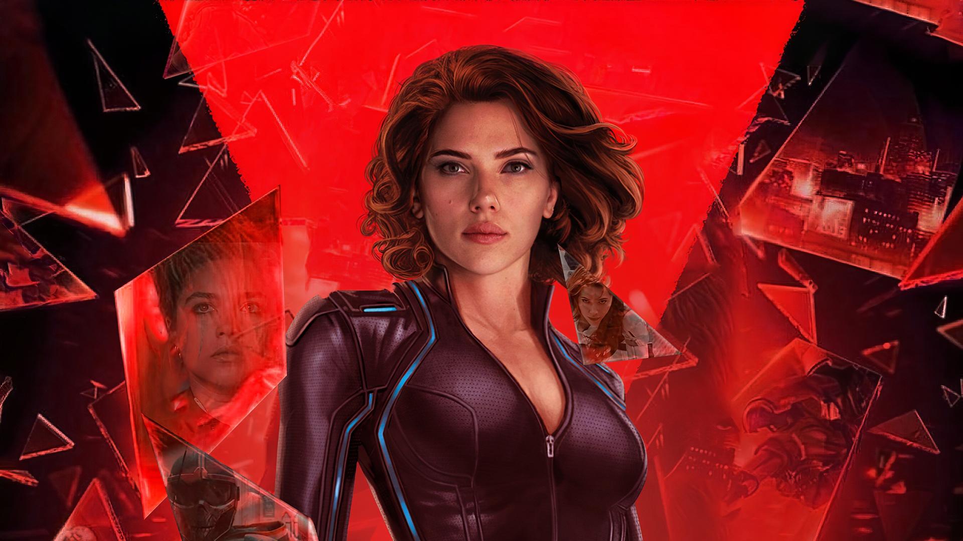 Black Widow free background