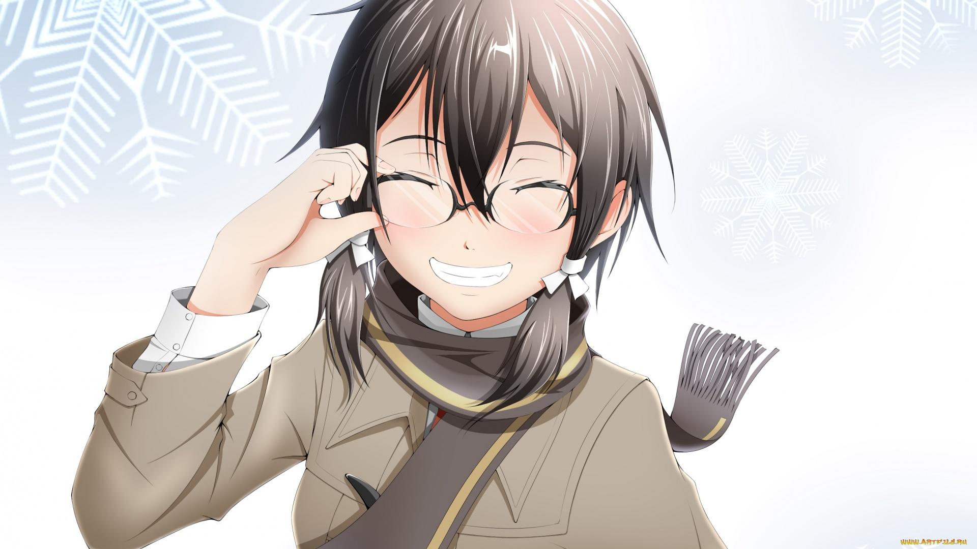 Anime Girl Smile hd background