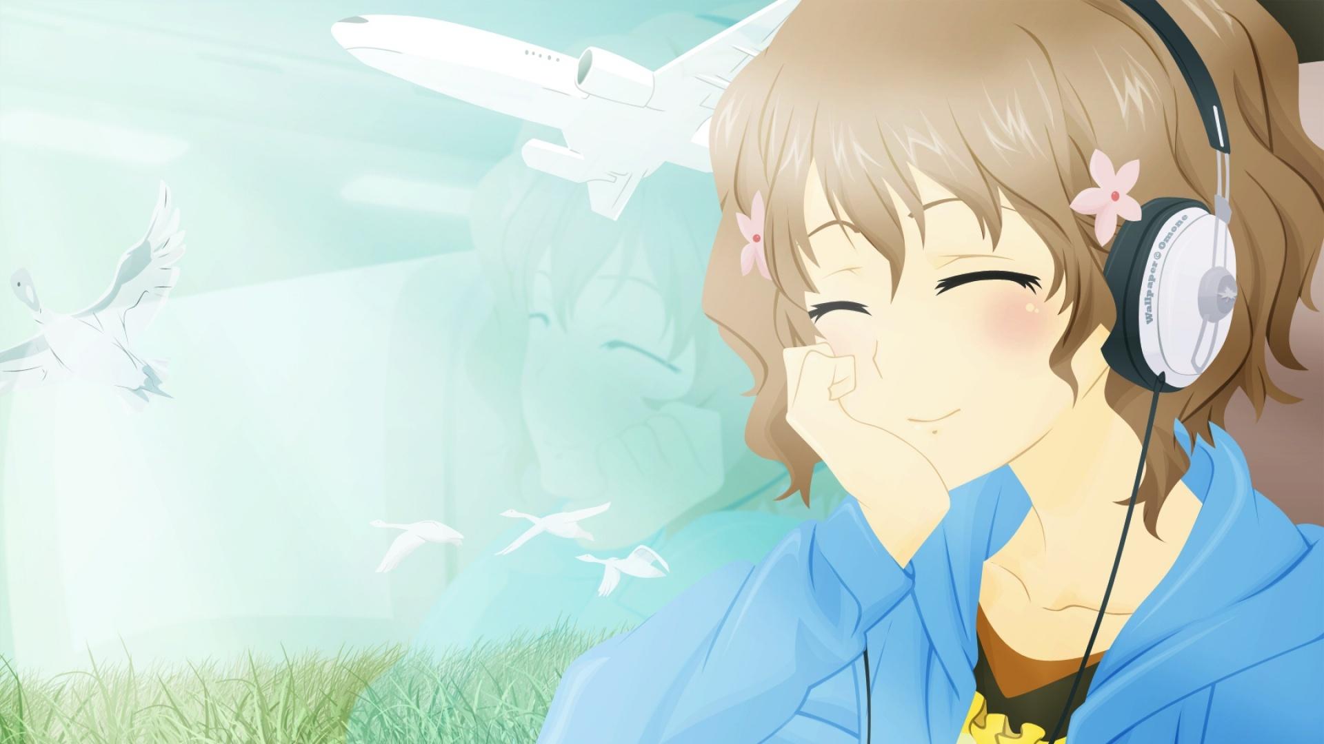 Anime Girl Smile desktop wallpaper