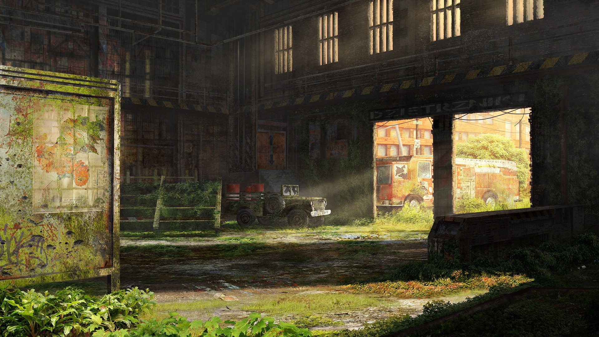 Post Apocalyptic Overgrown City desktop background