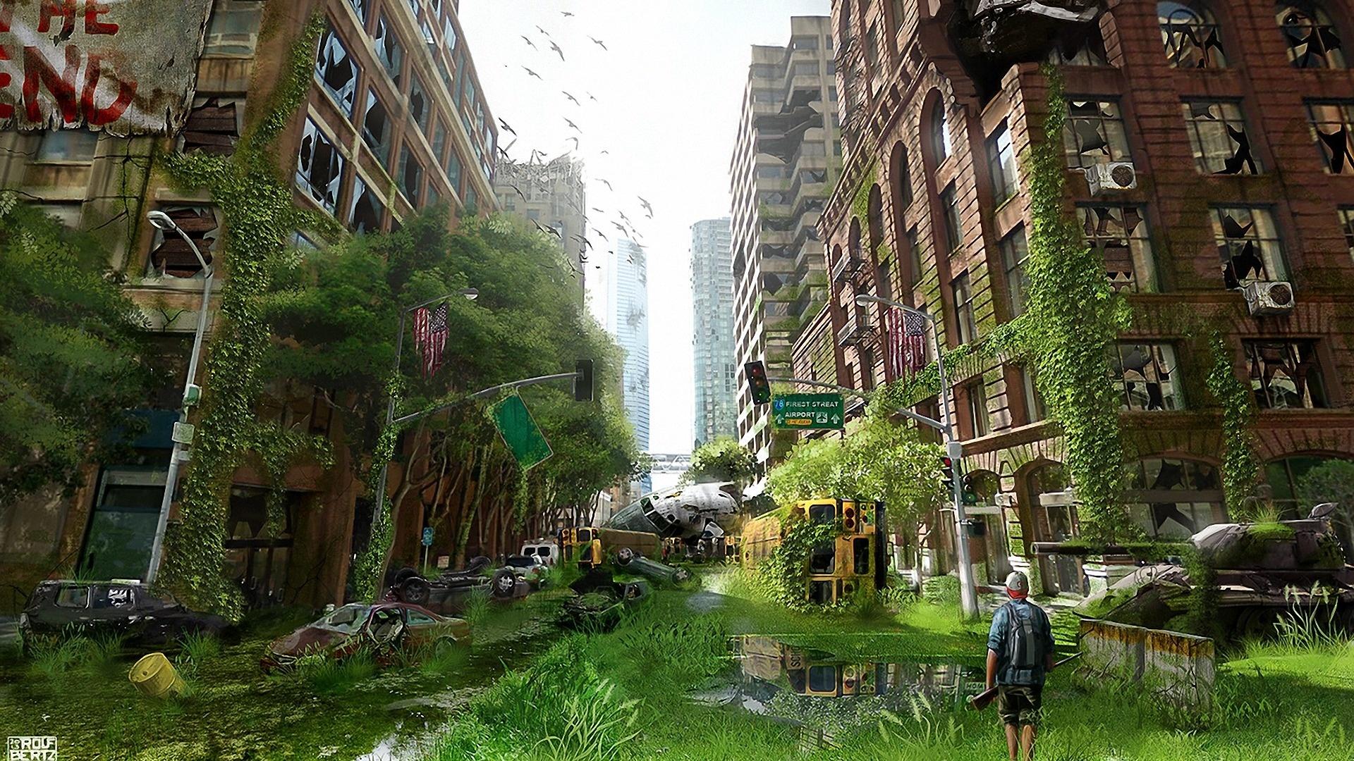 Post Apocalyptic Overgrown City free photo