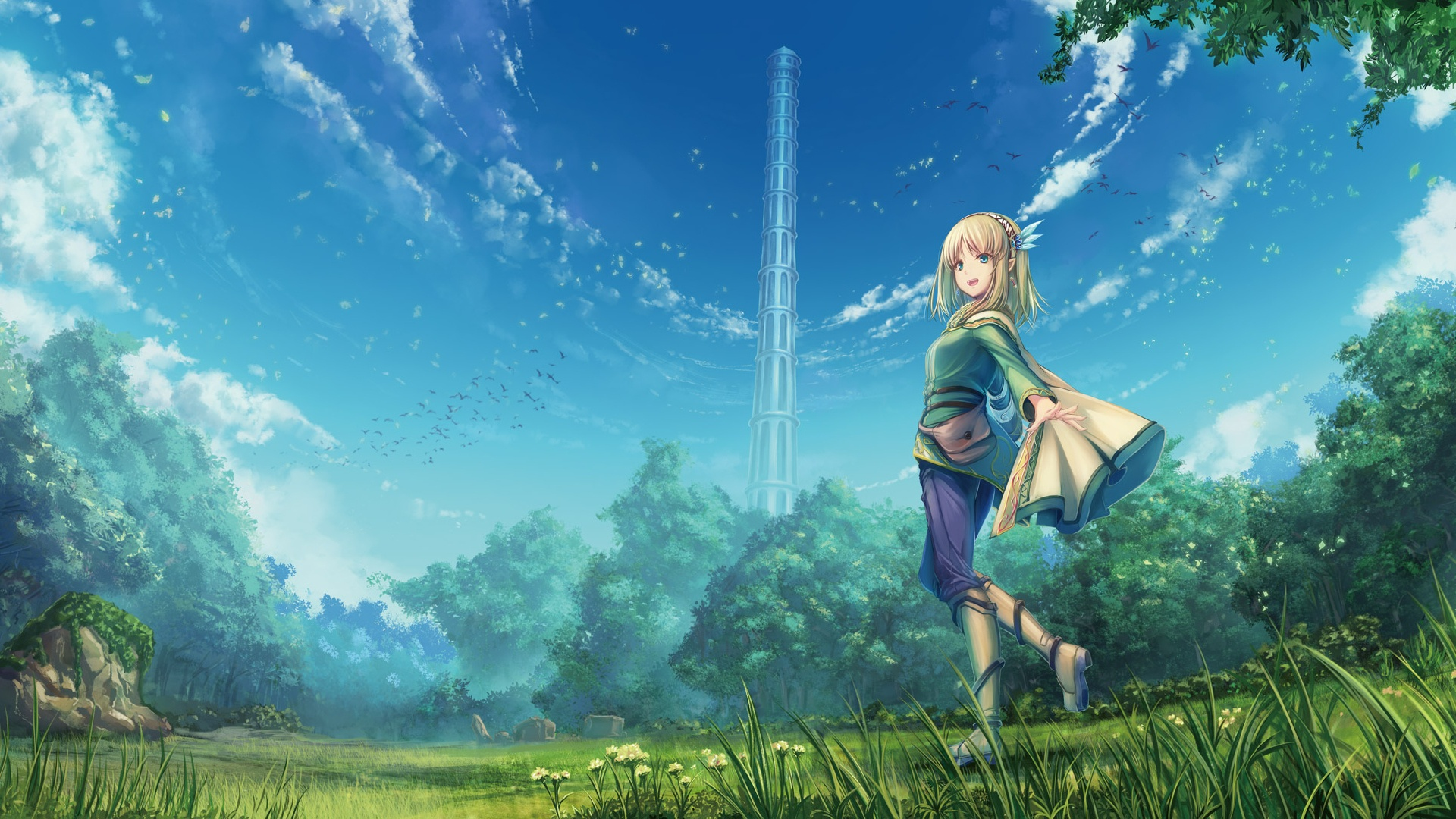 Anime Landscape With Clouds best wallpaper