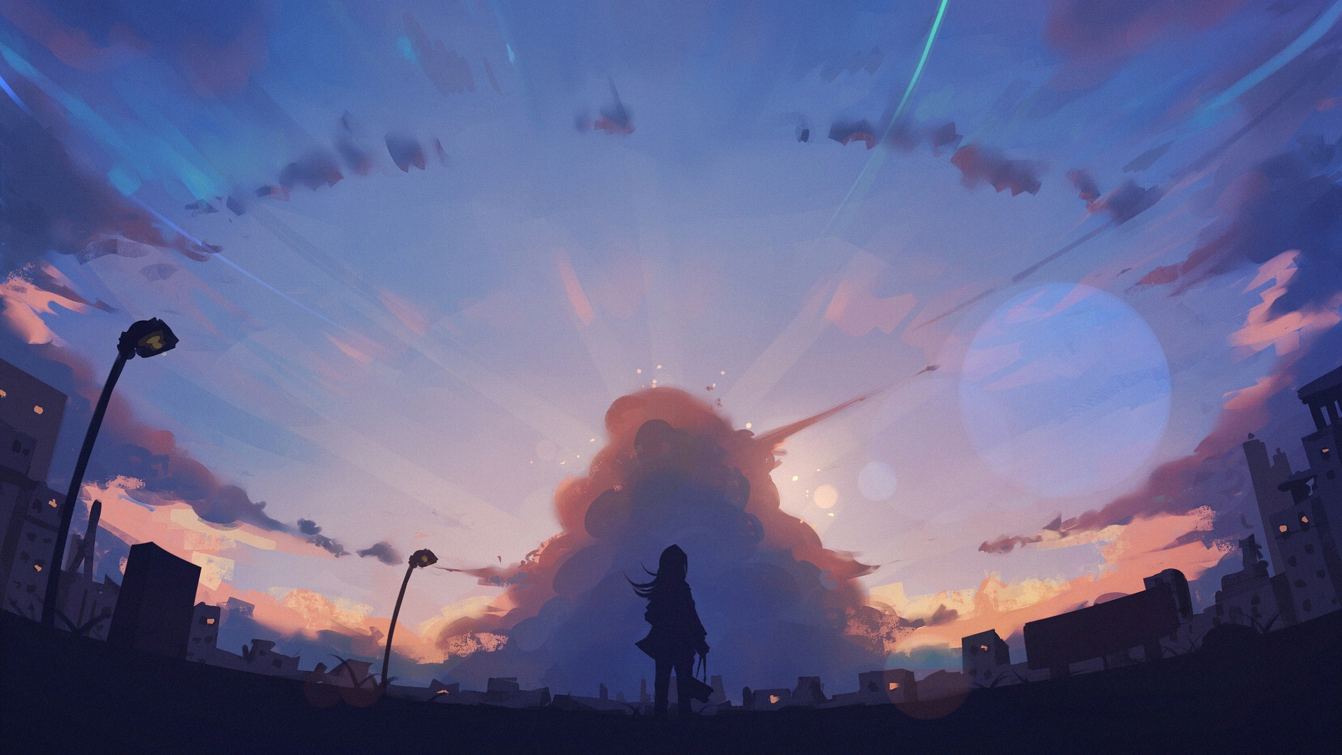 Anime Landscape With Clouds 1920x1080 wallpaper