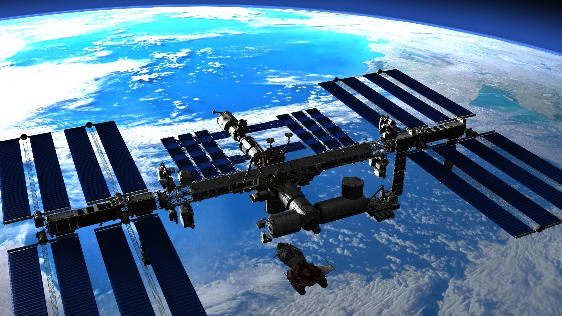 Space Station cool background