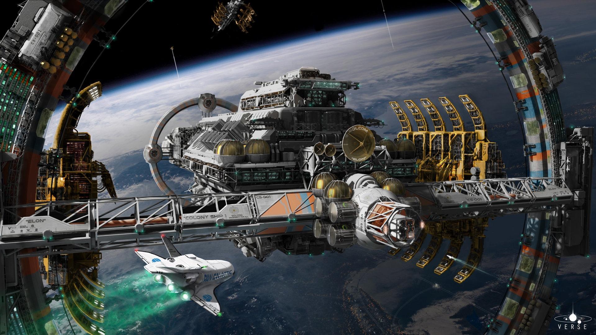 Space Station laptop wallpaper