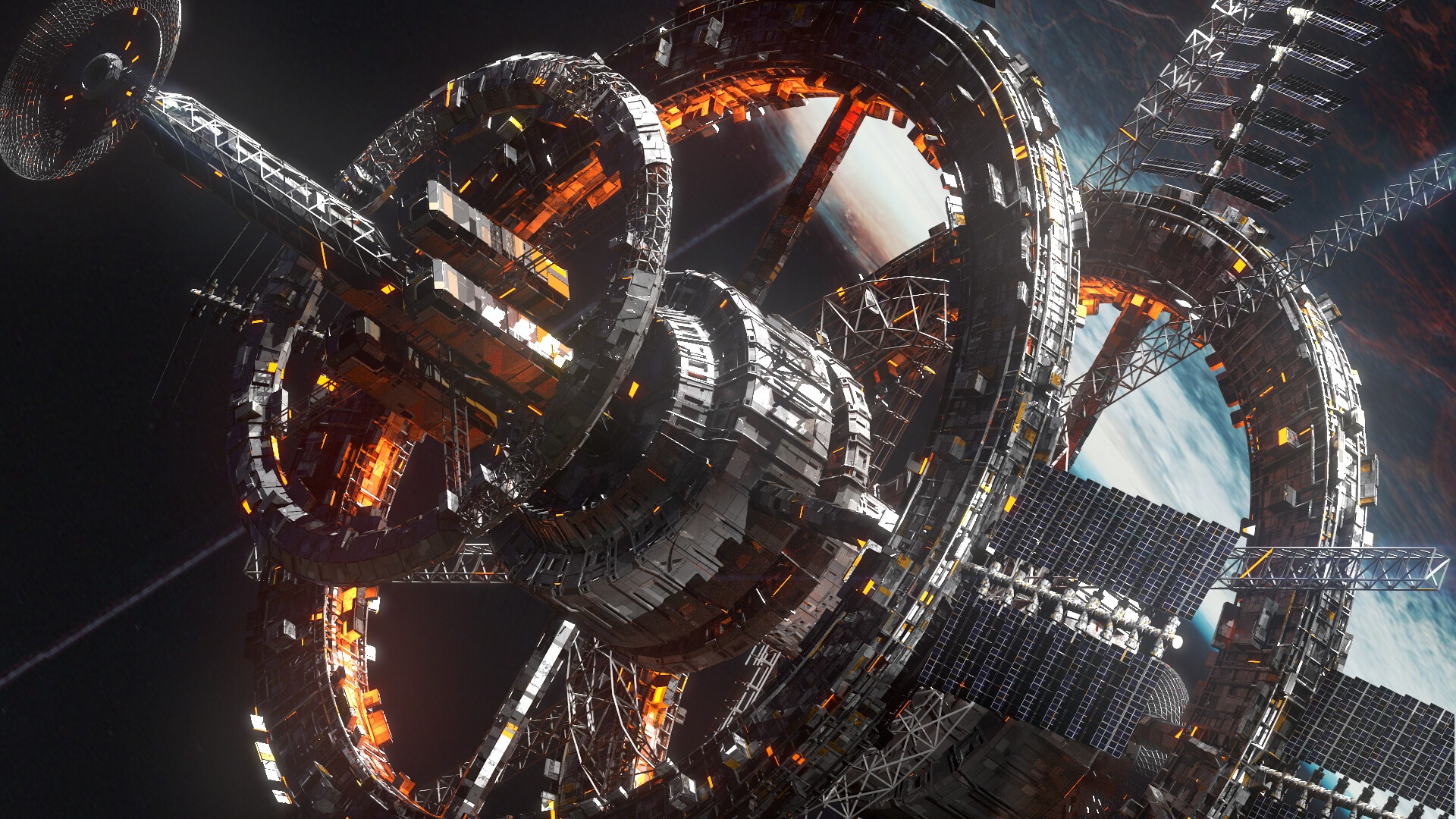 Space Station best background