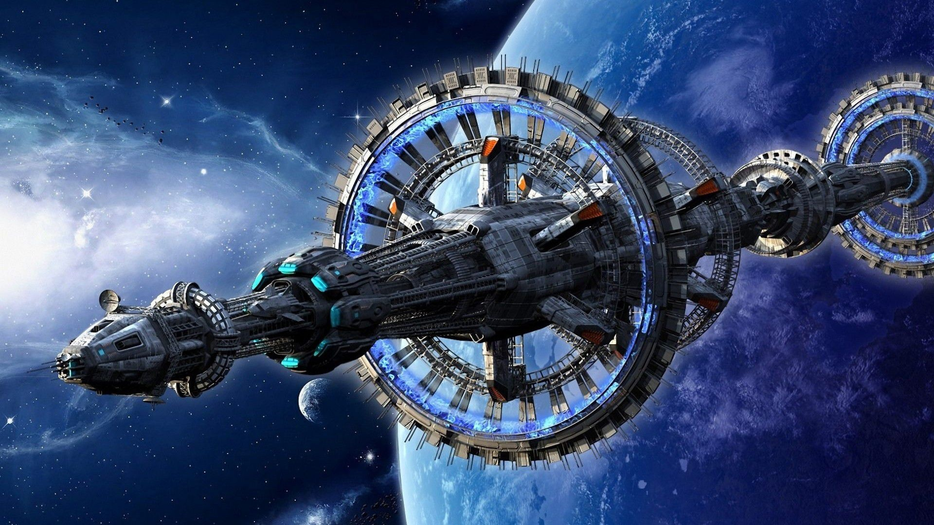 Space Station hd background