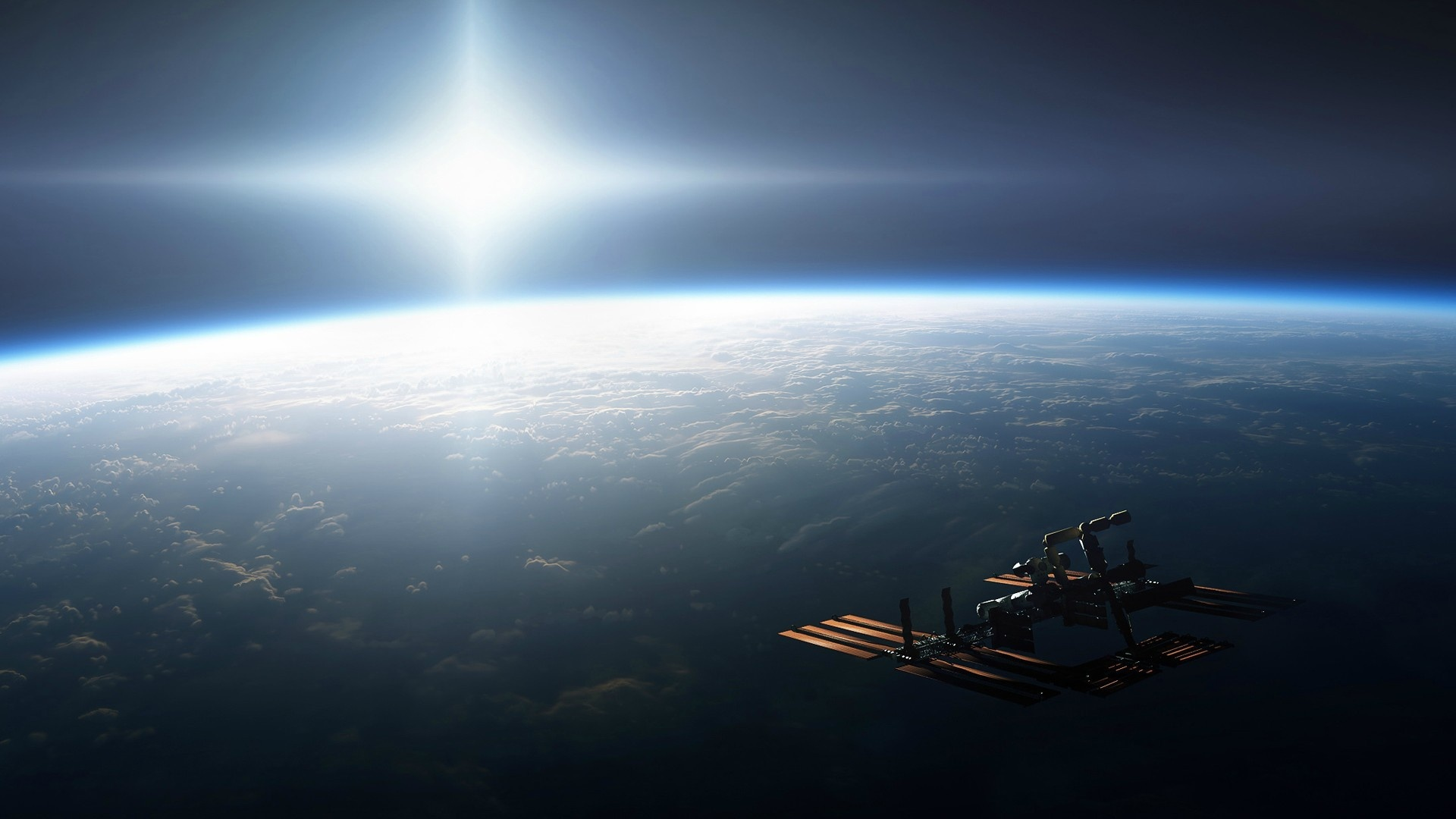 Space Station computer wallpaper