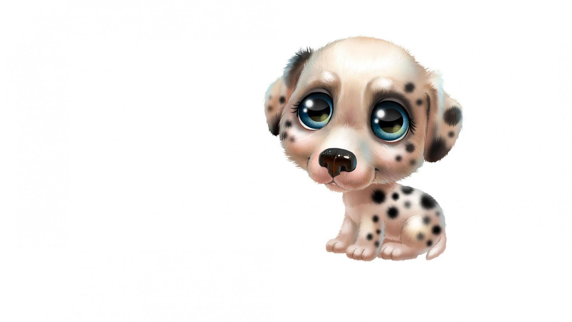Animal With Big Eyes Art 1080p wallpaper