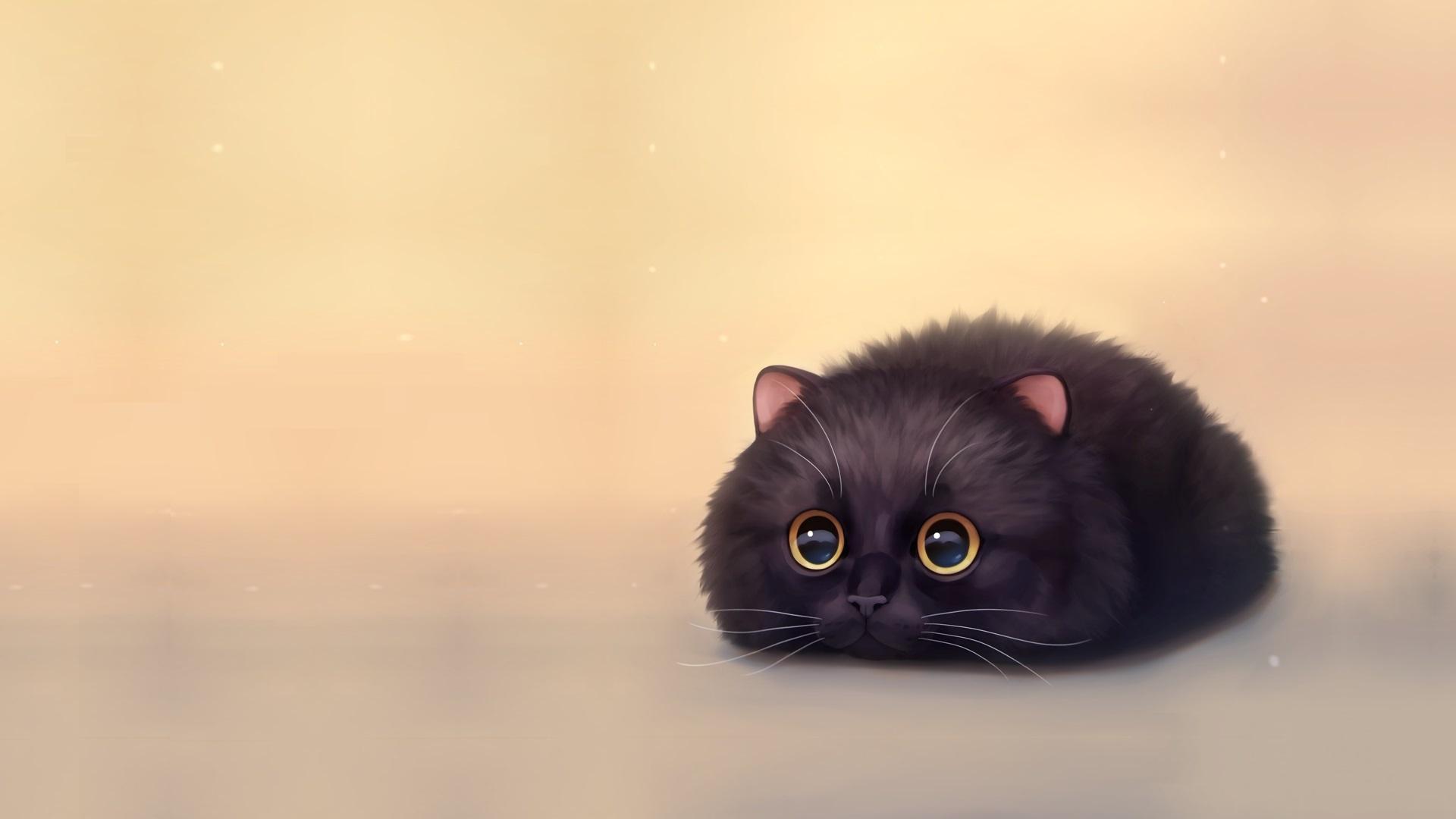 Animal With Big Eyes Art desktop background