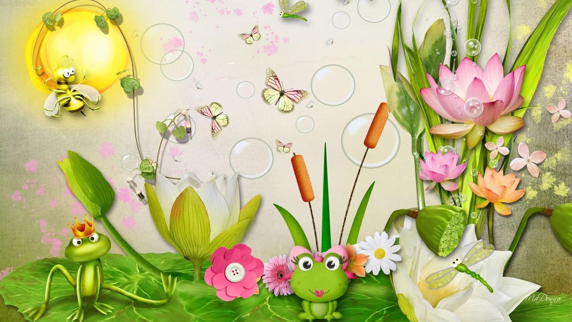 Cartoon Frog best wallpaper