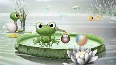 Cartoon Frog free photo