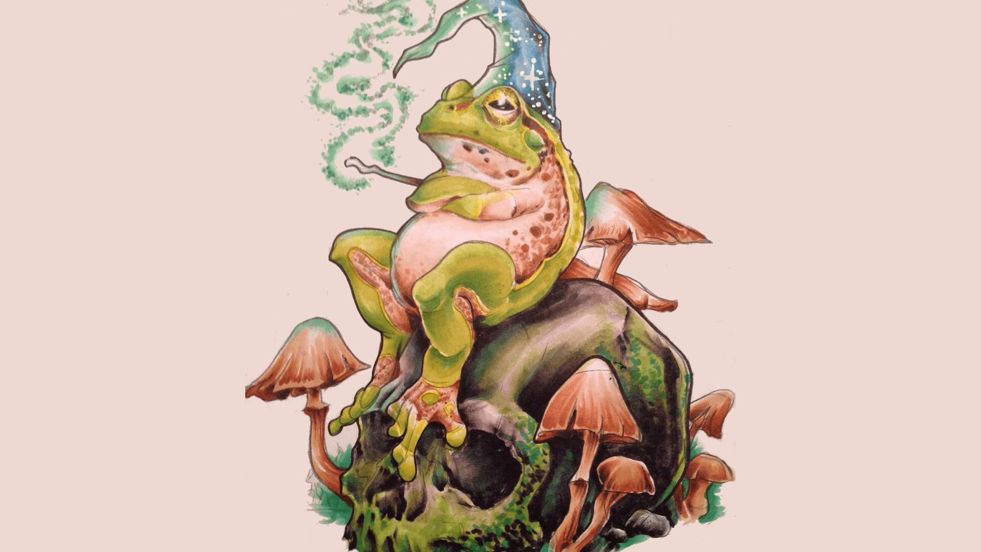 Cartoon Frog pc wallpaper