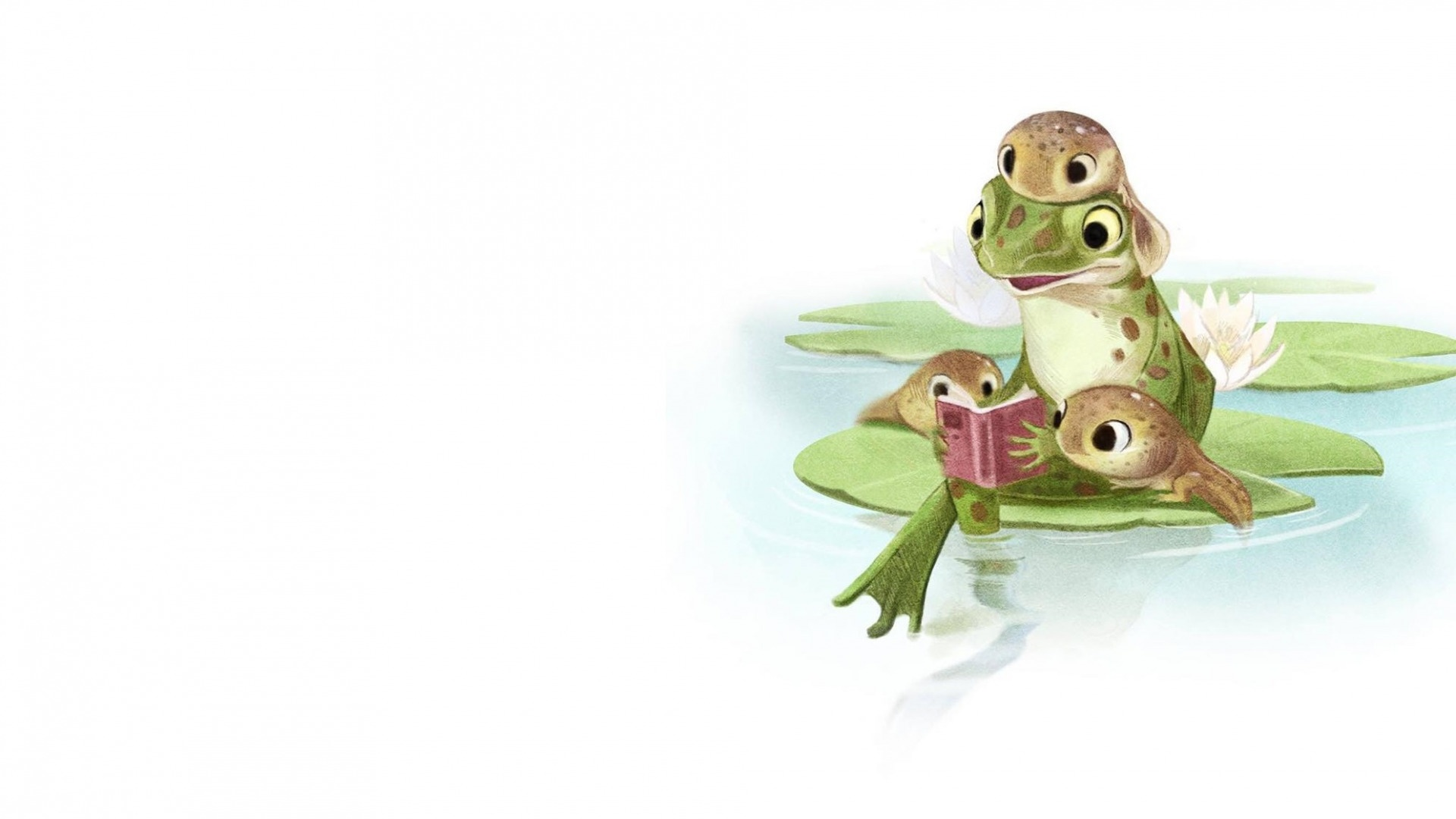Cartoon Frog cool background