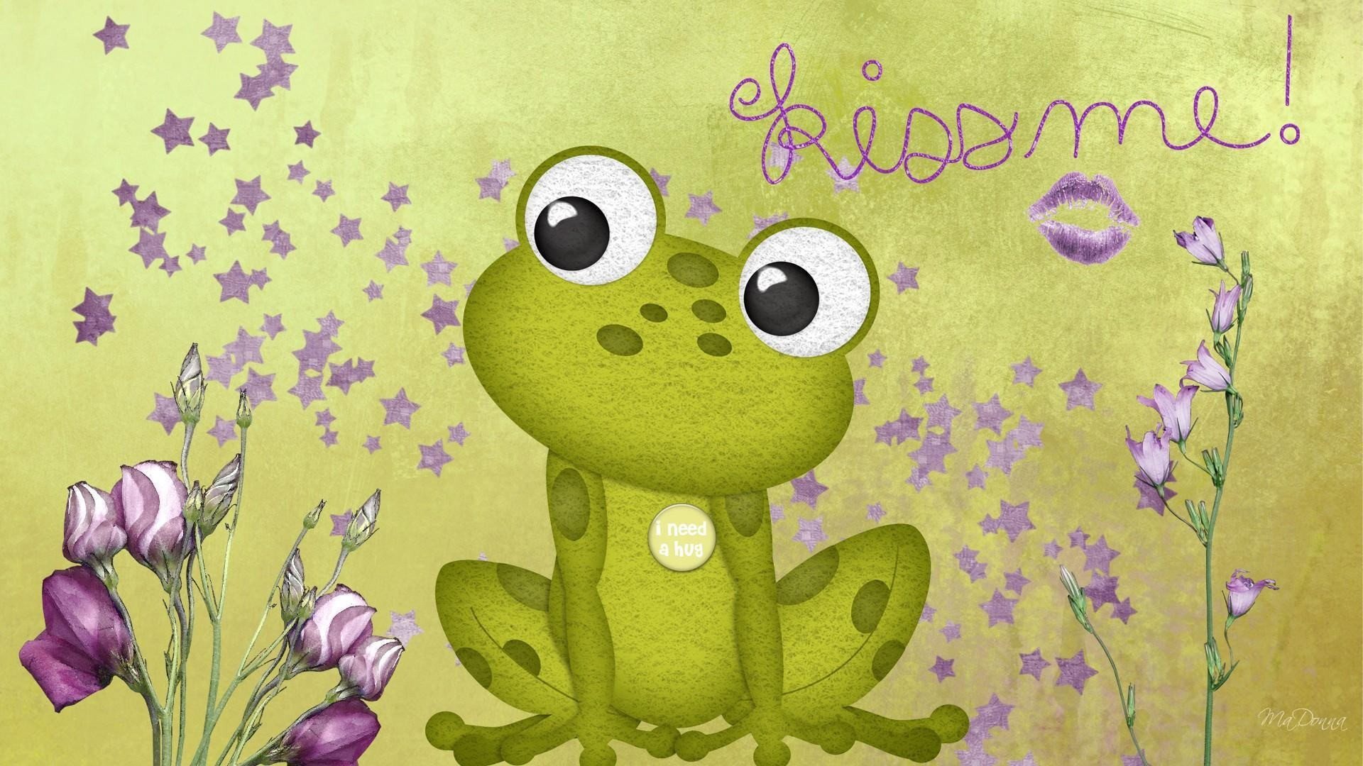 Cartoon Frog desktop wallpaper