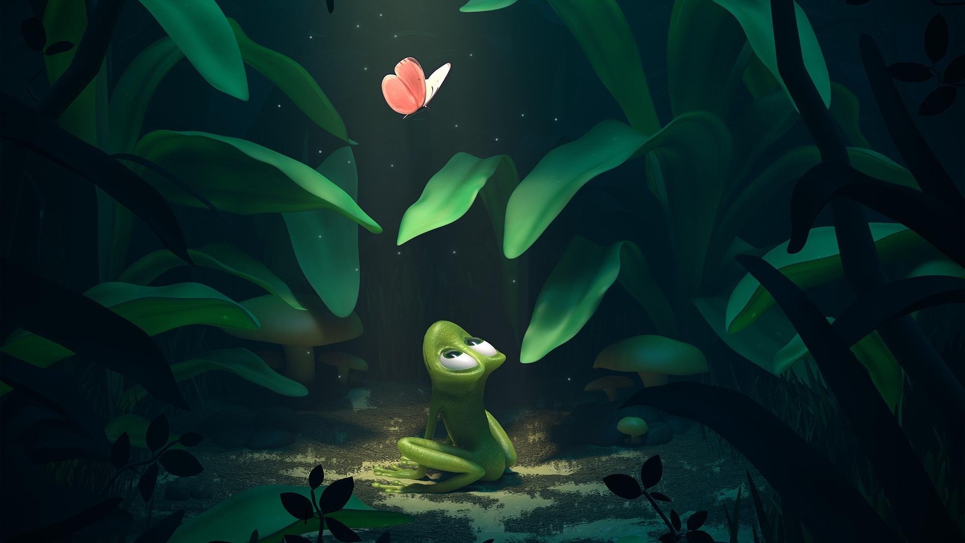 Cartoon Frog free wallpaper