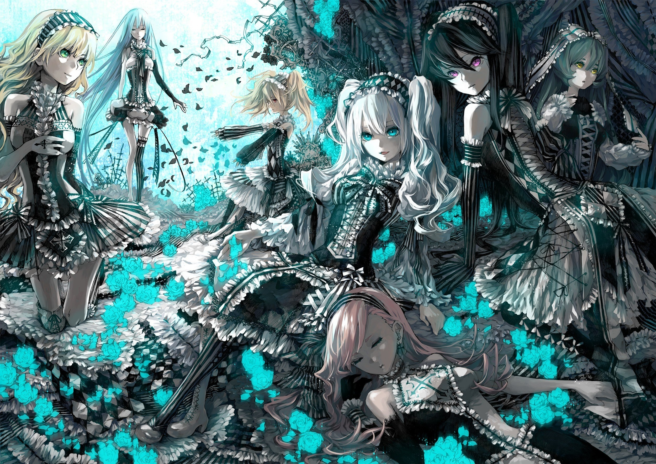 Anime Gothic Girl computer background
