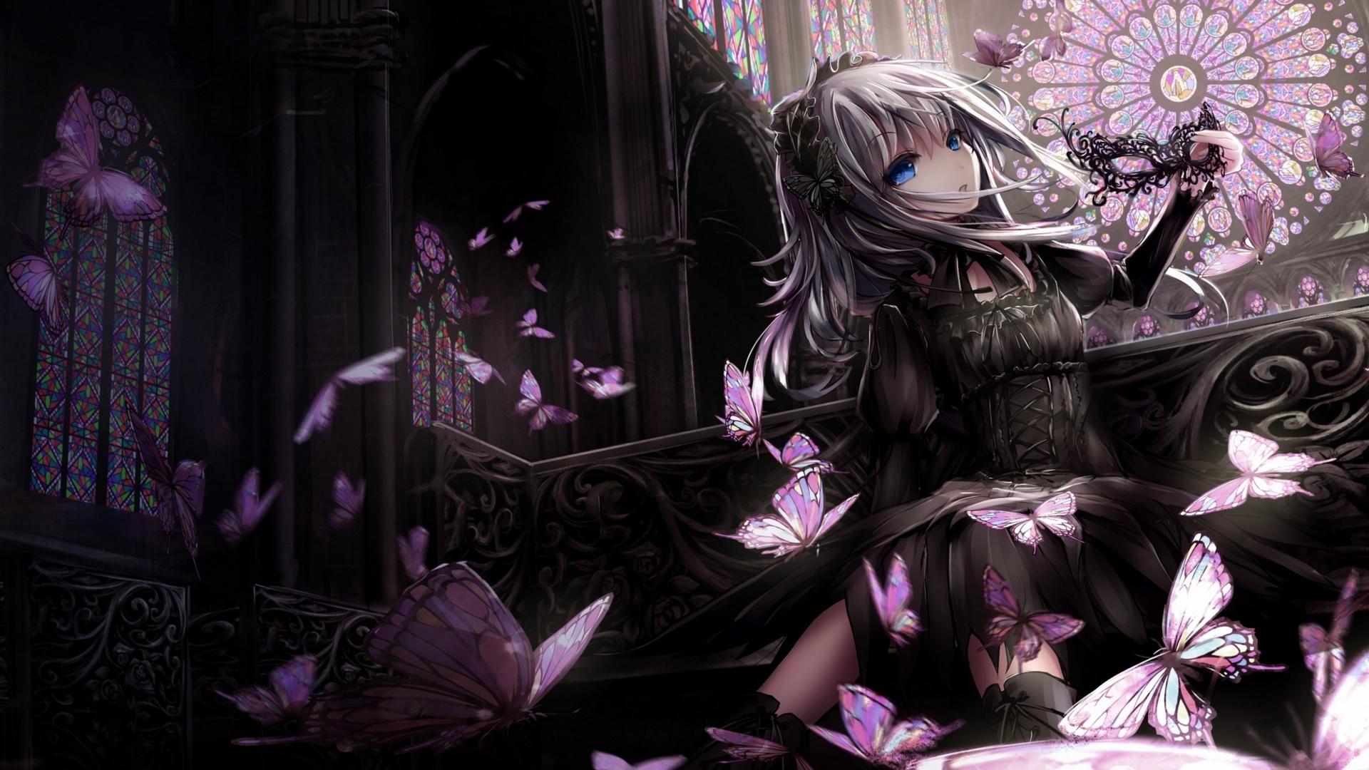 Anime Gothic Girl windows background