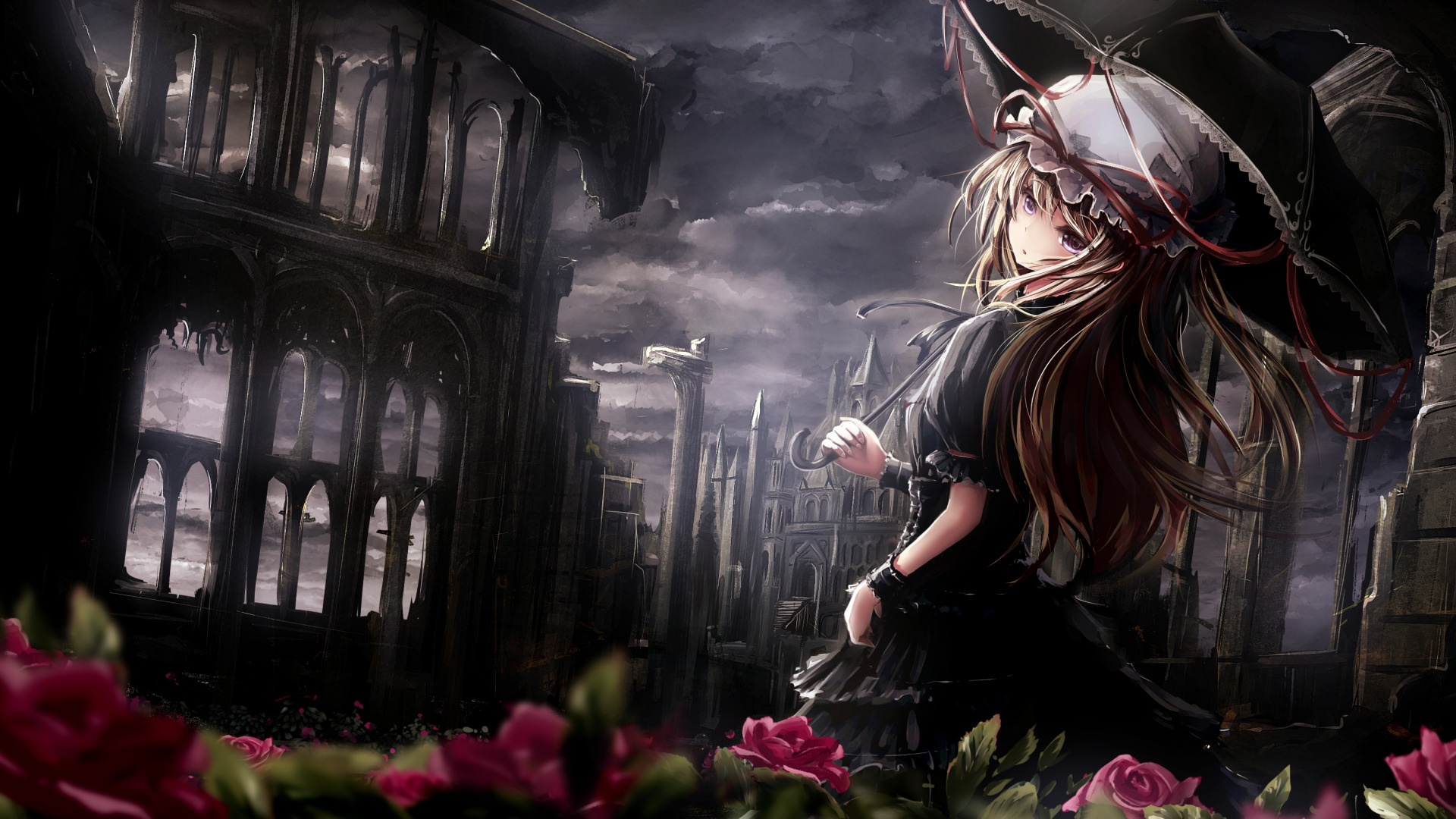 Anime Gothic Girl background picture
