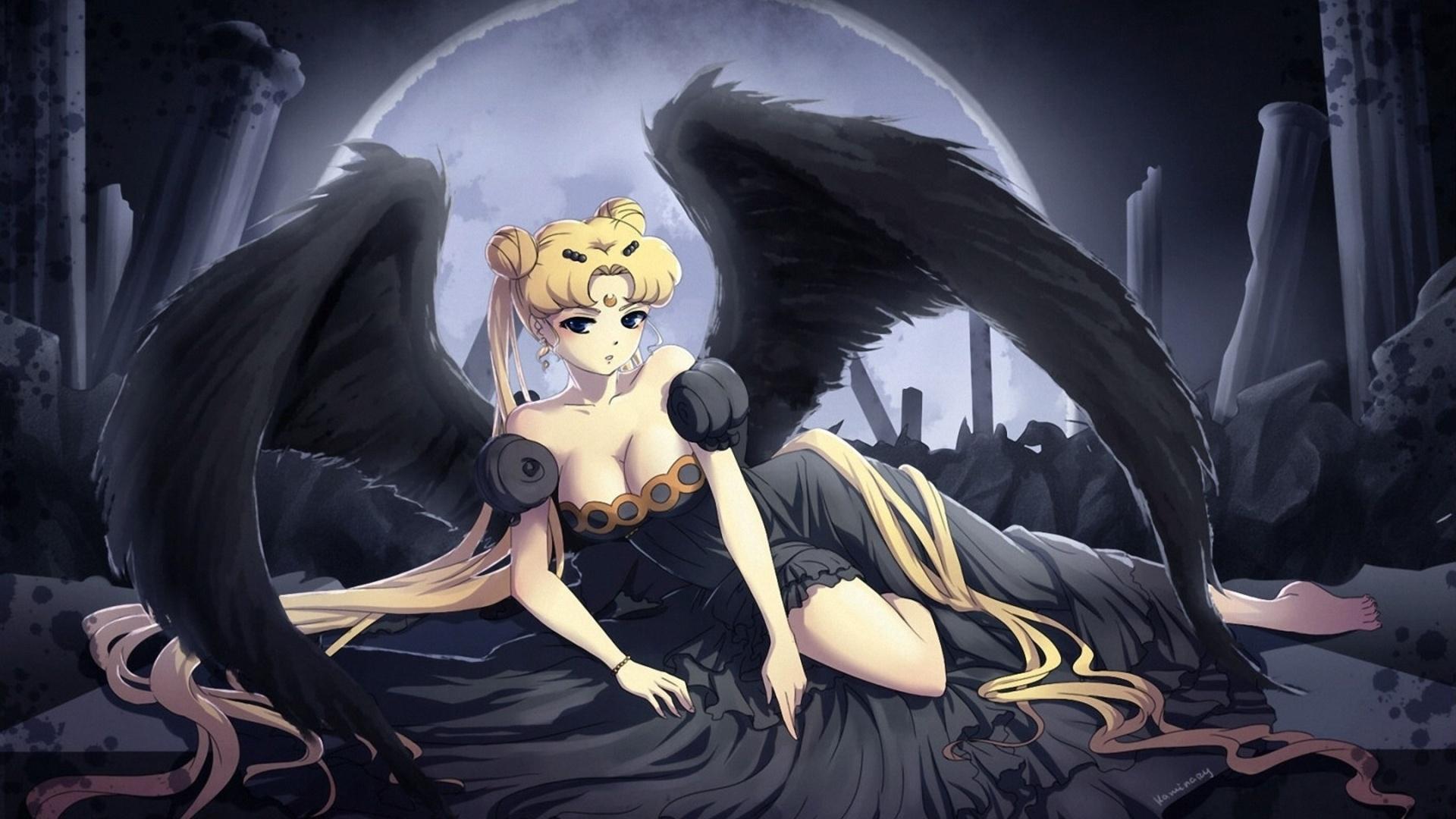Anime Gothic Girl free background