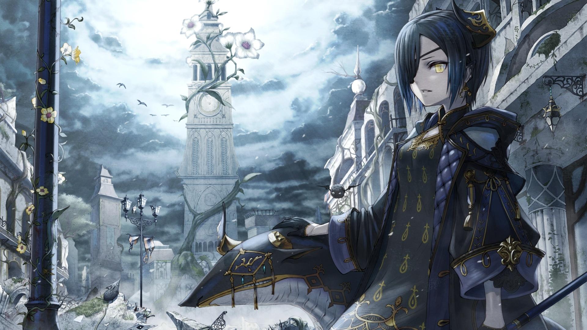 Anime Gothic Girl computer wallpaper