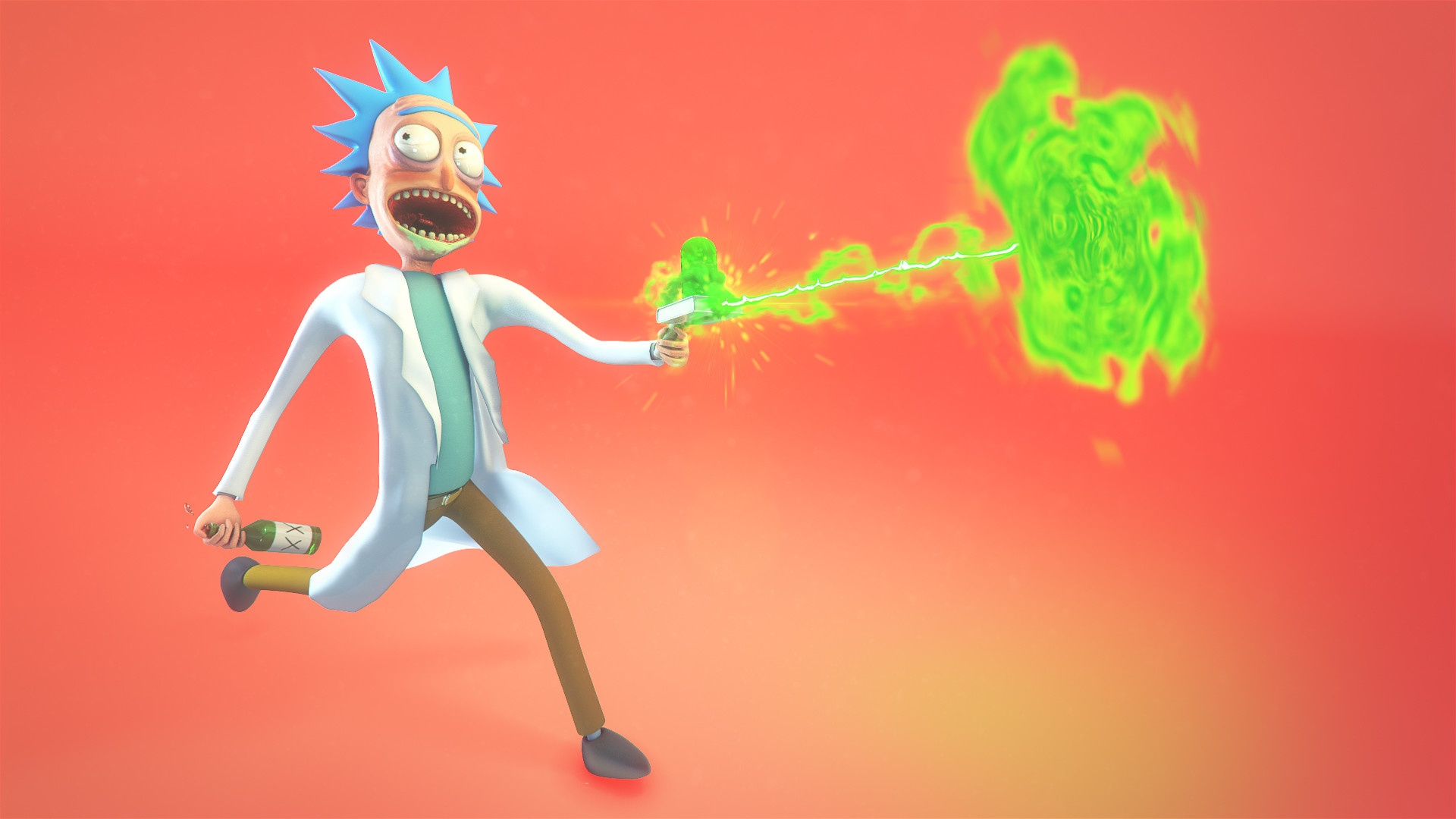 Rick And Morty Art desktop wallpaper