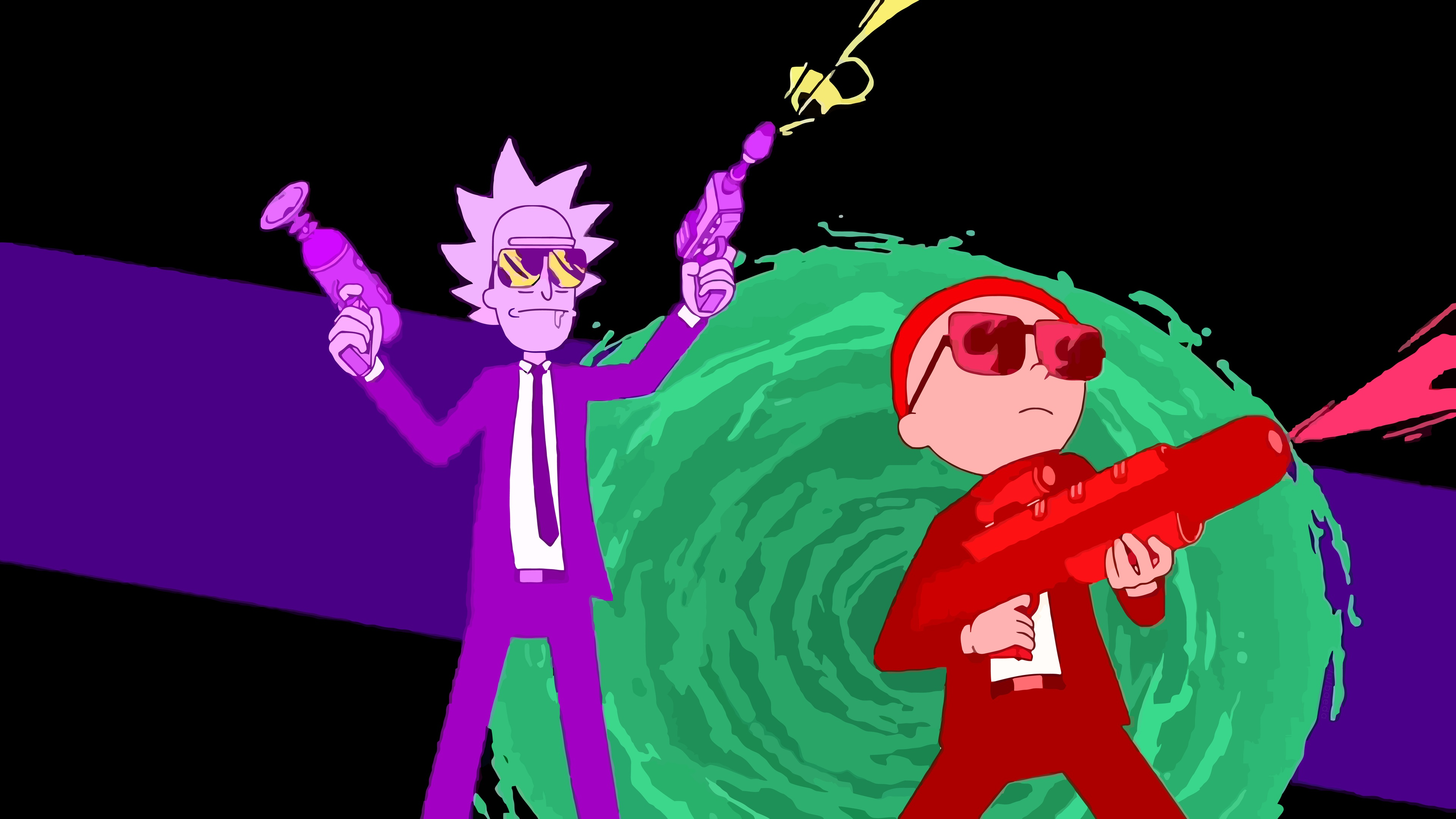 Rick And Morty Art desktop background