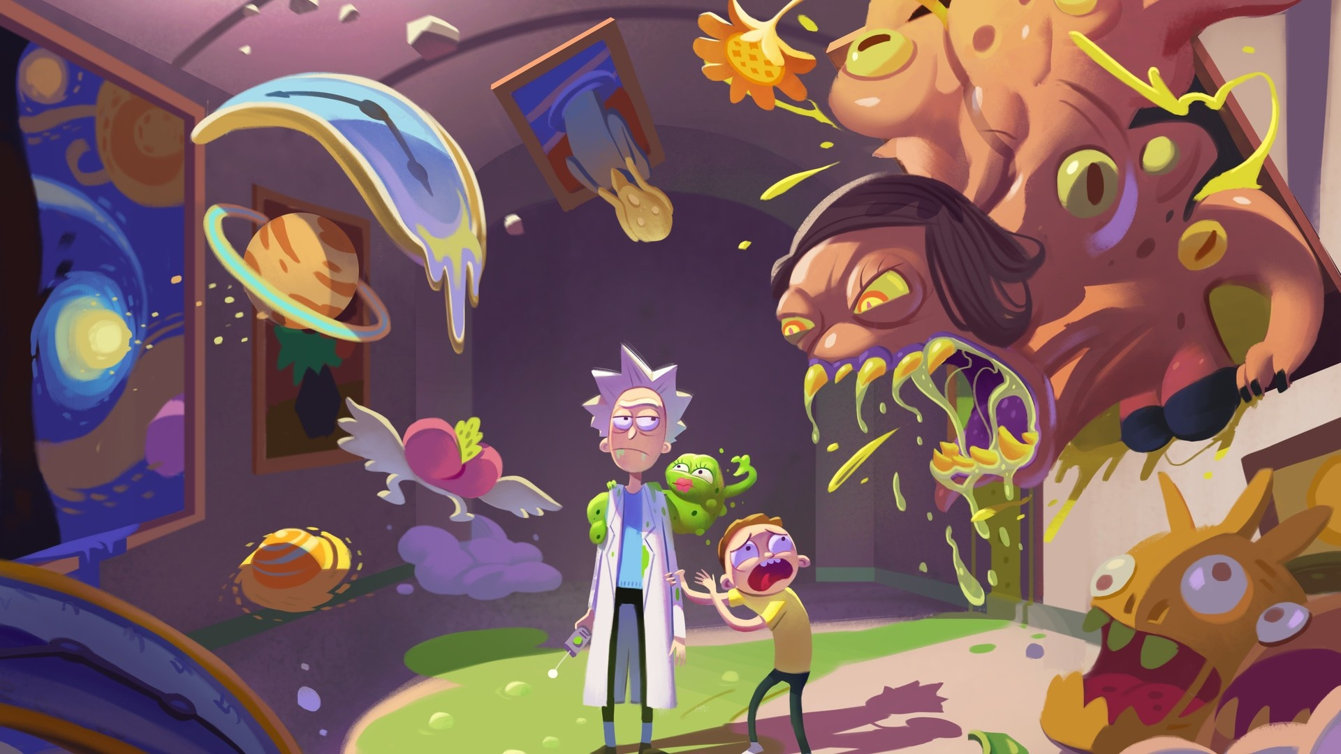 Rick And Morty Art cool background