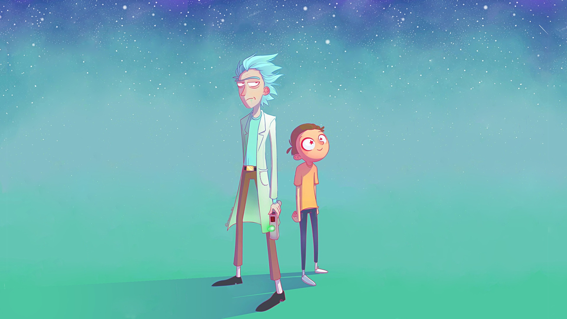 Rick And Morty Art background wallpaper