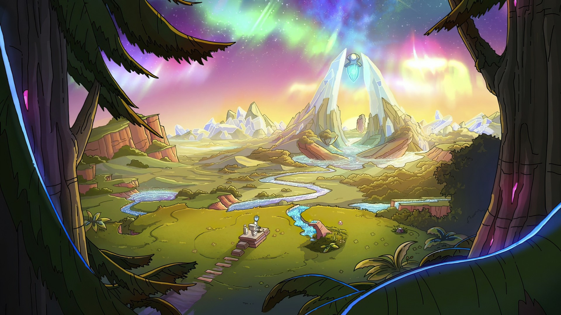 Rick And Morty Art windows background