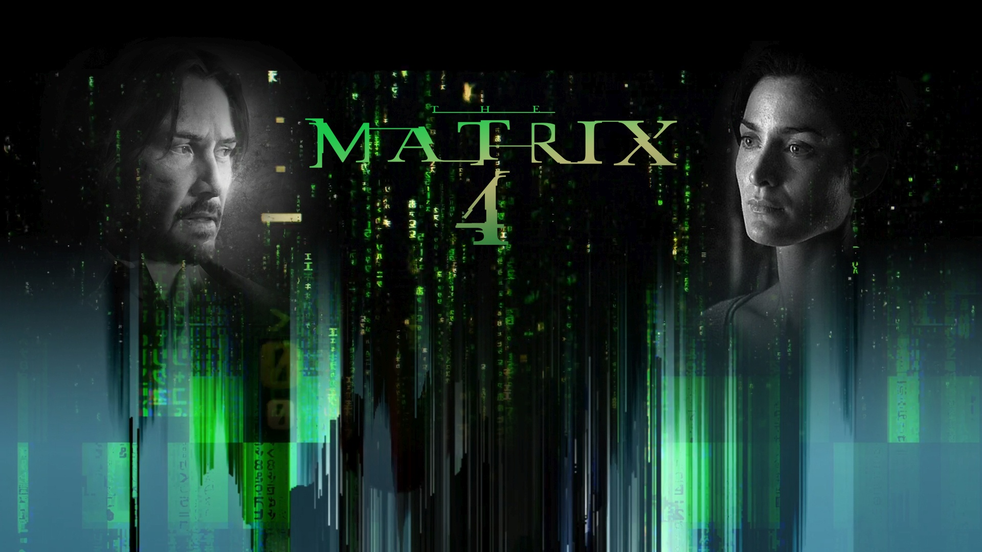 The Matrix 4 windows background