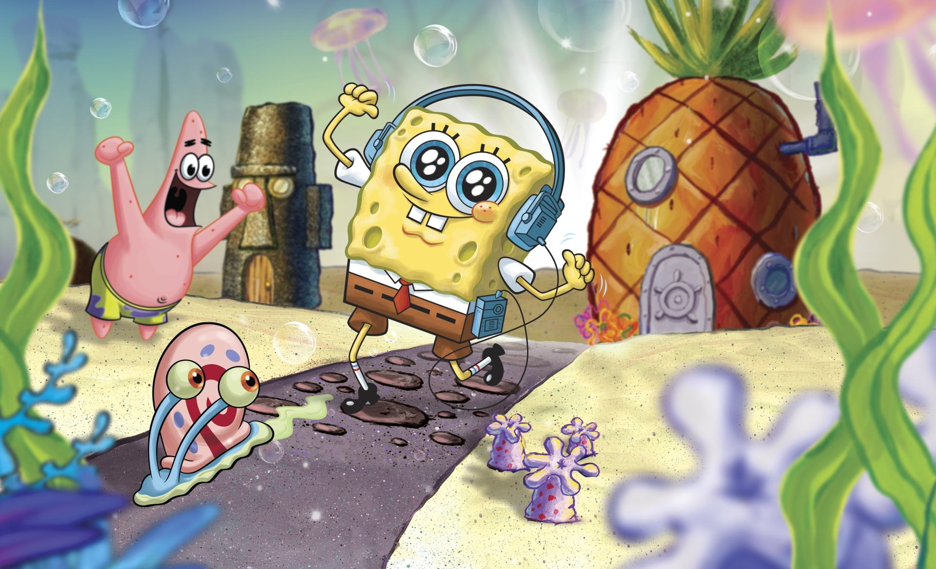 Sponge computer background