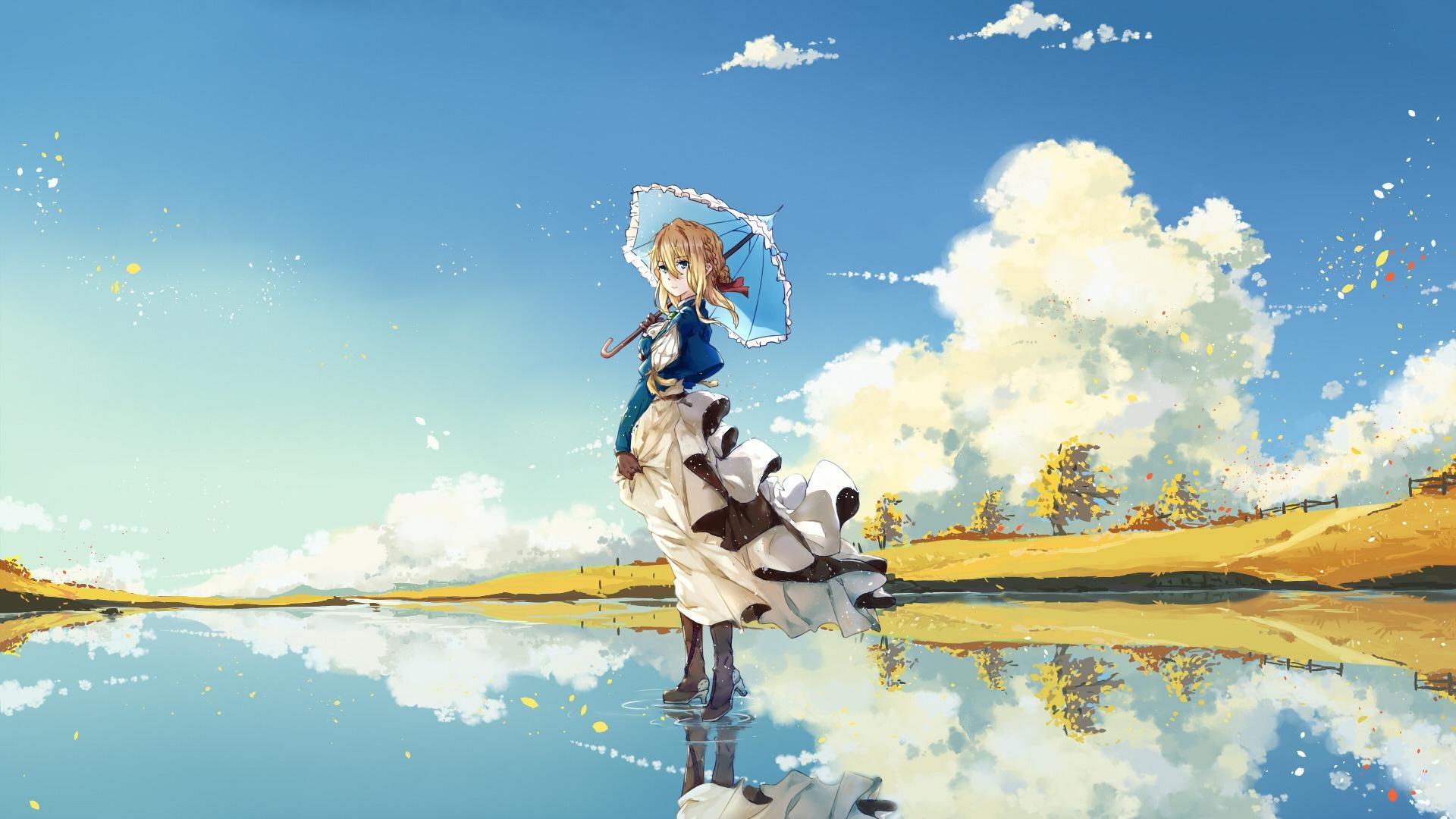 Waifu desktop background