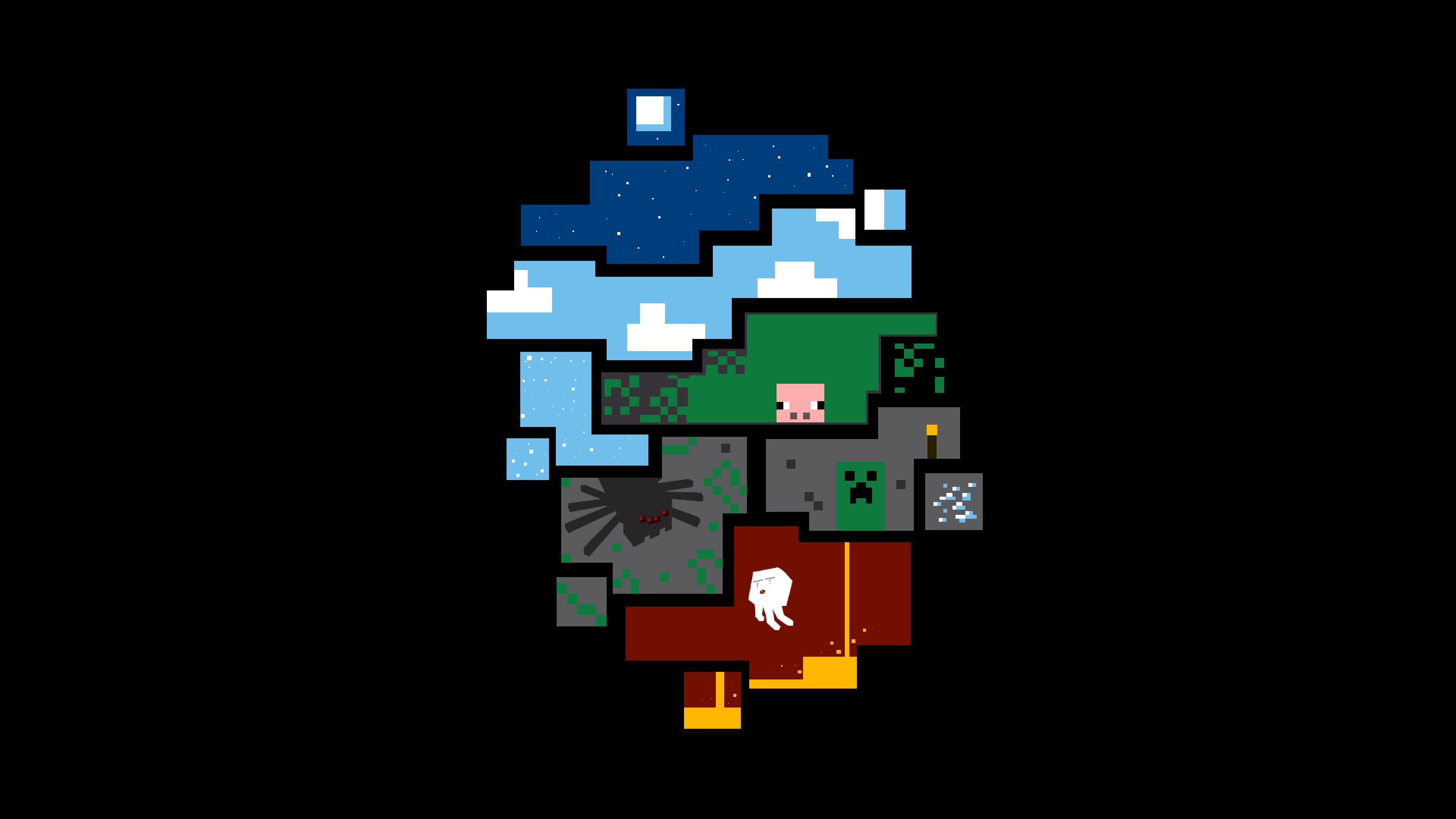 Minecraft desktop wallpaper free download