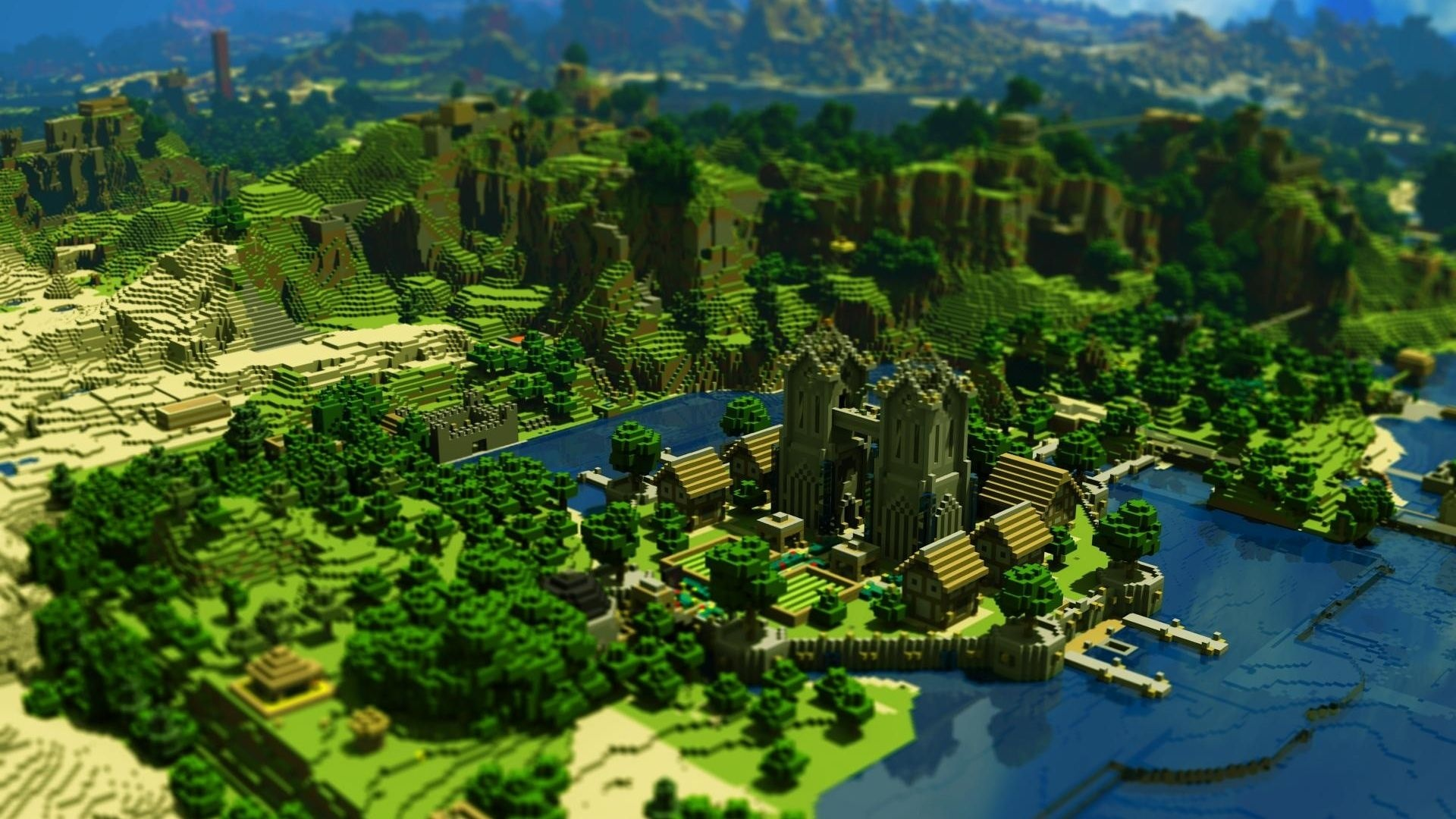 Minecraft desktop background