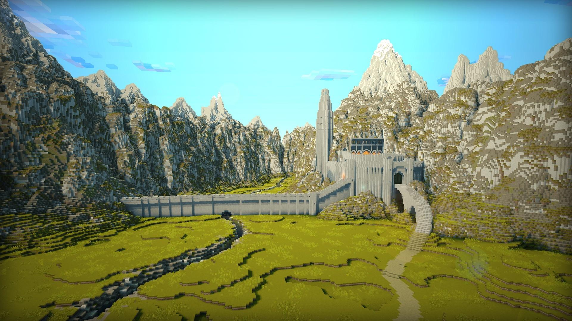Minecraft computer background