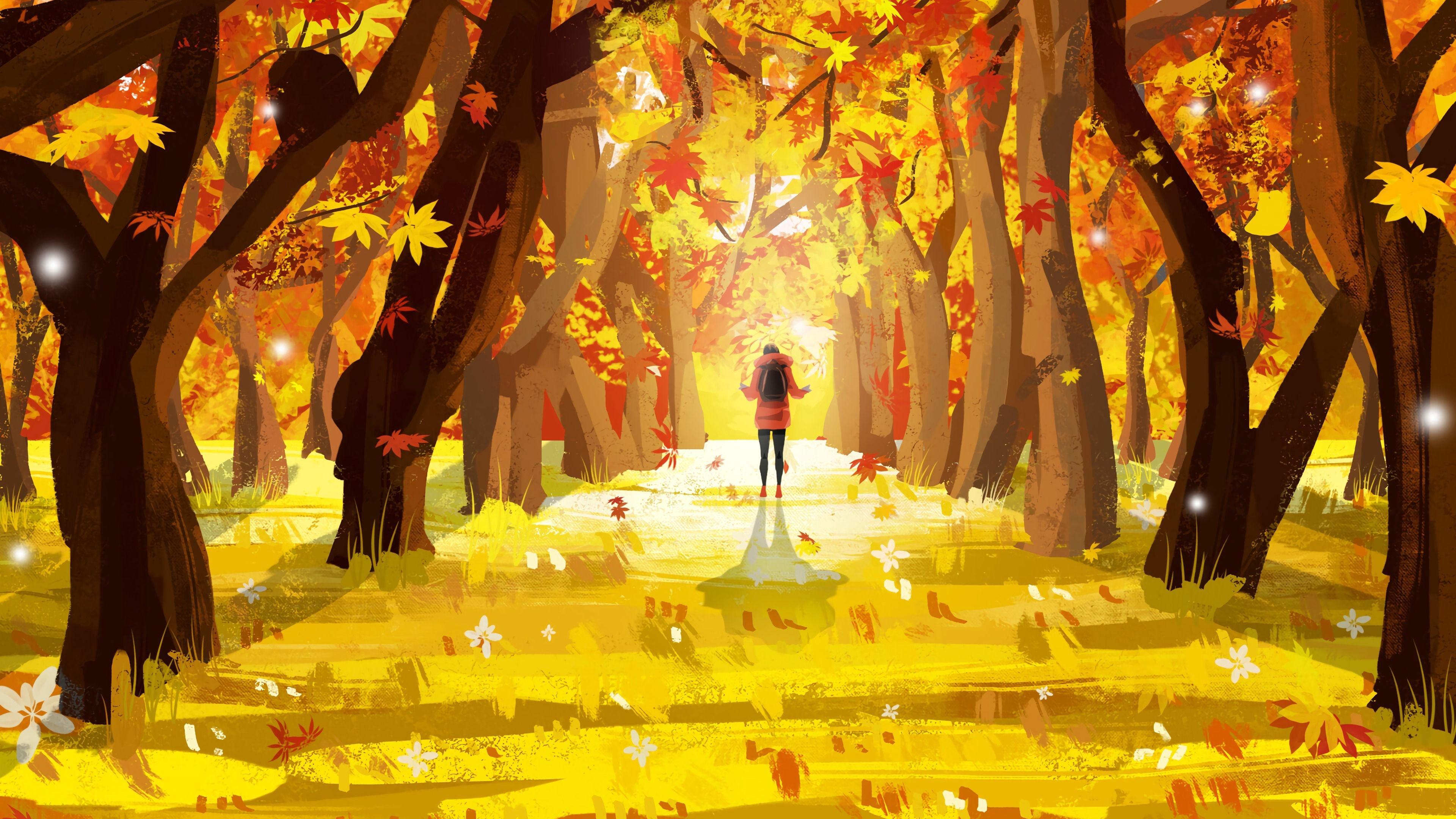 Fall Art desktop wallpaper