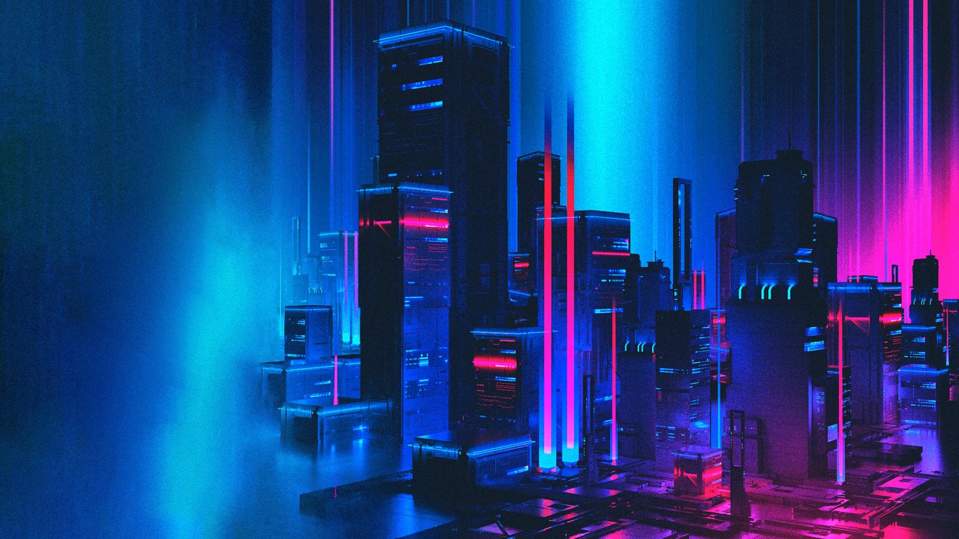 Neon computer wallpaper