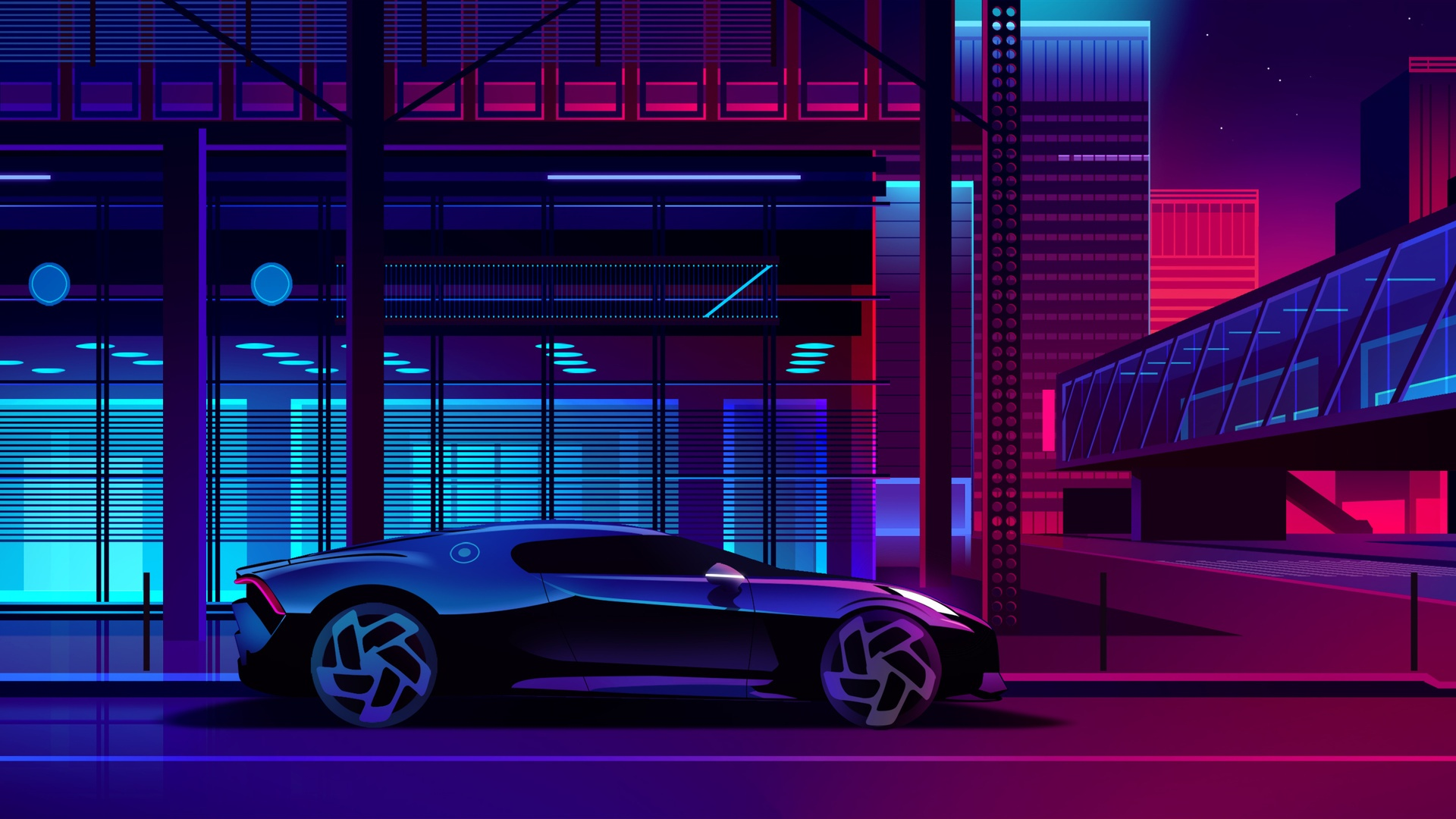Neon laptop wallpaper
