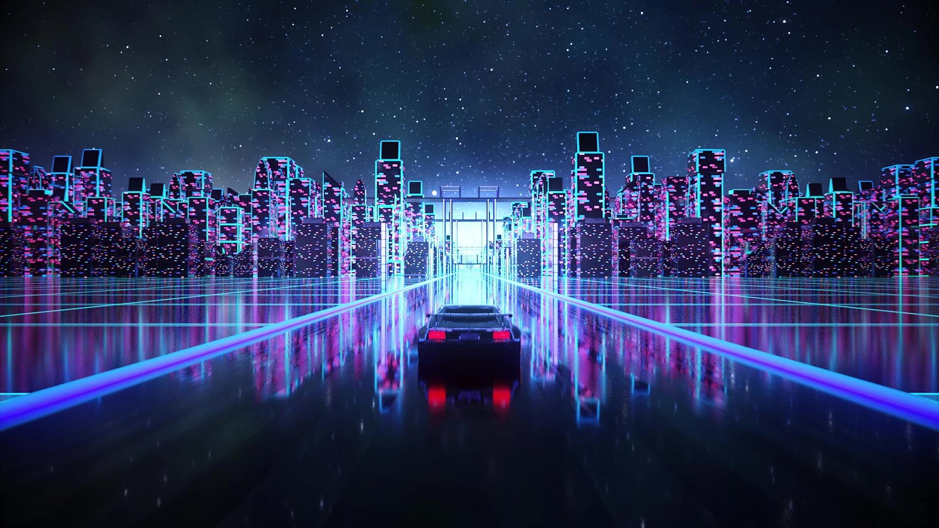 Neon desktop wallpaper free download